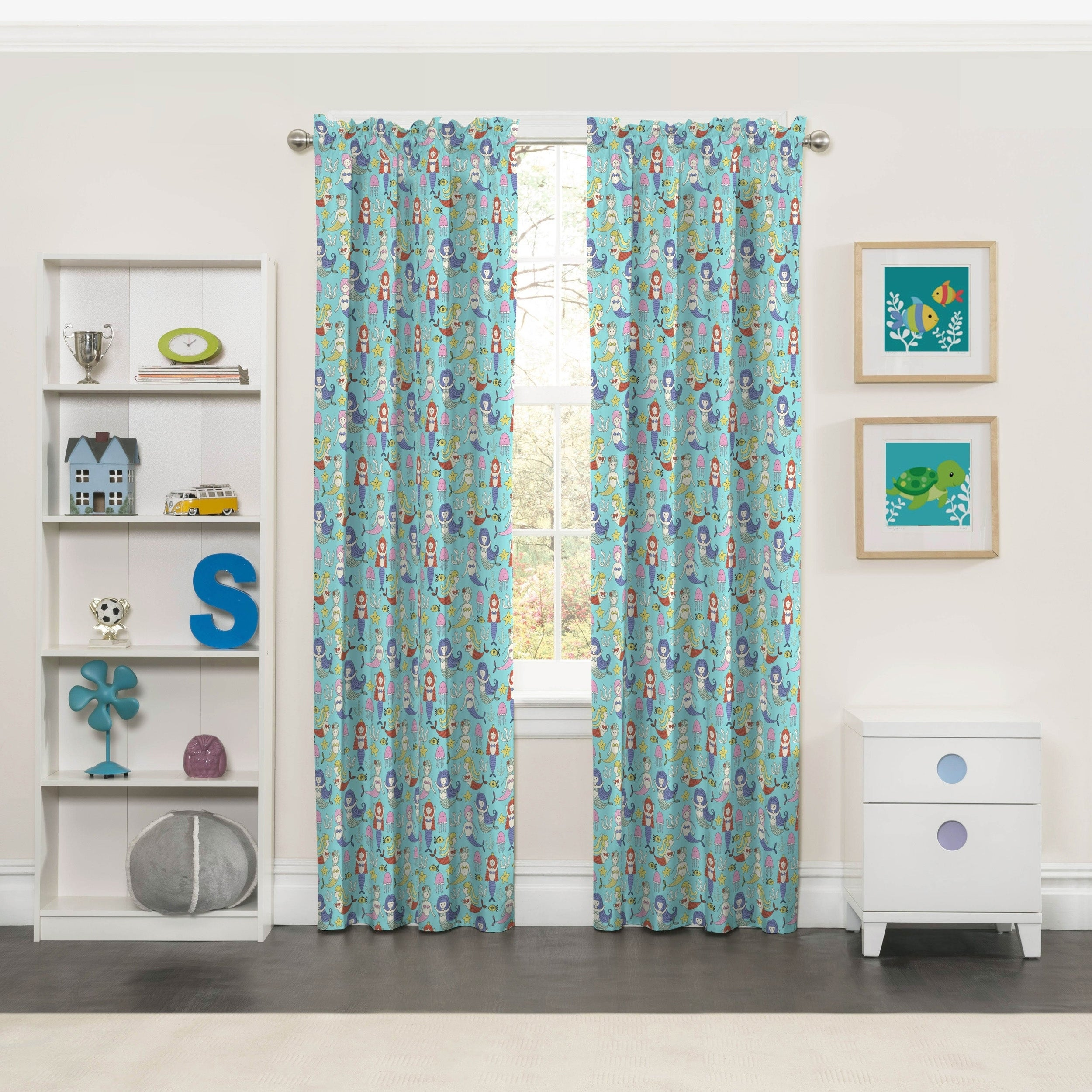 Shop Eclipse Kids Magical Mermaids Blackout Window Curtain - Free ...