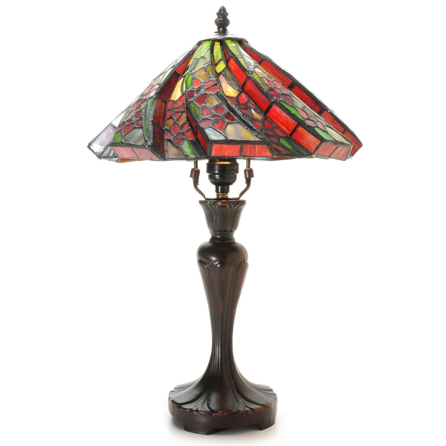 Shop Tiffany Style White Flower Table Lamp Free Shipping Today
