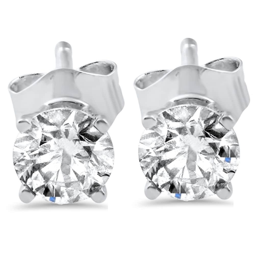 e95cd869c Shop Bliss 14k White or Yellow Gold 1/2 ct TDW Diamond Studs - On ...