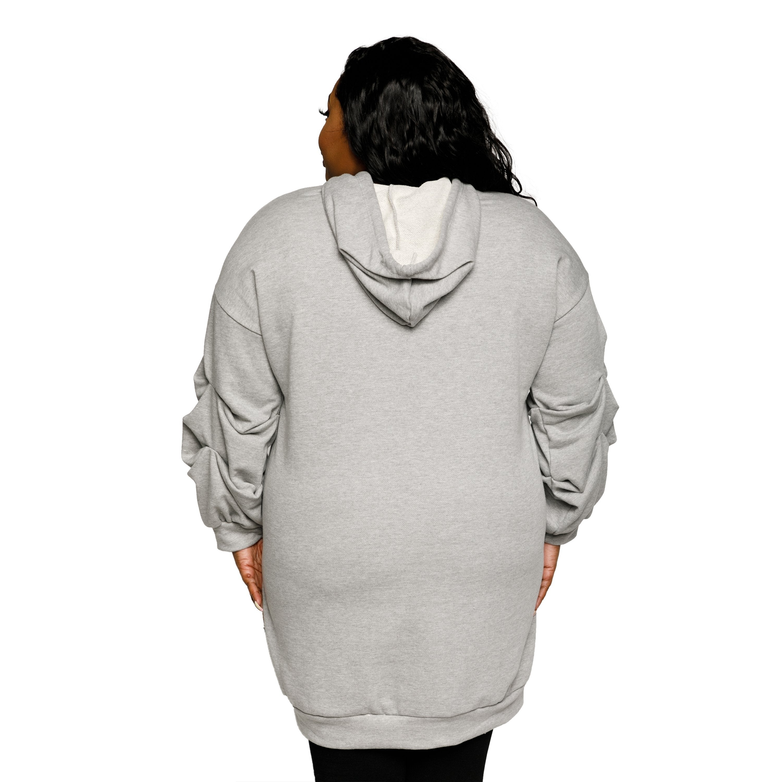 3052abae96a Shop Xehar Womens Plus Size Casual Oversized Ruched Hoodie Sweater Dress -  Free Shipping On Orders Over  45 - Overstock - 18820676