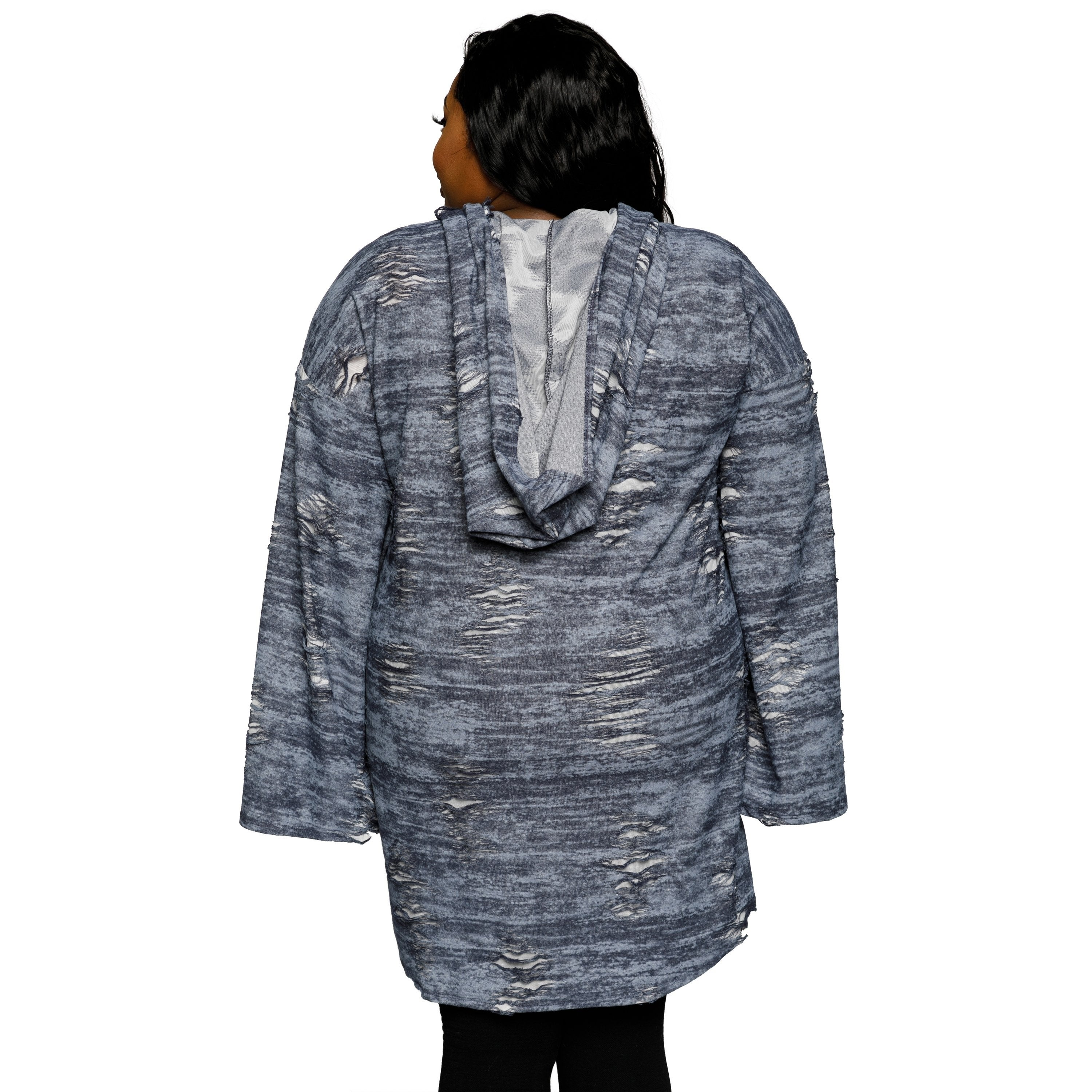59b1a8a850 Shop Xehar Womens Plus Size Distressed Oversized Hoodie Sweater Dress -  Ships To Canada - Overstock - 18820685
