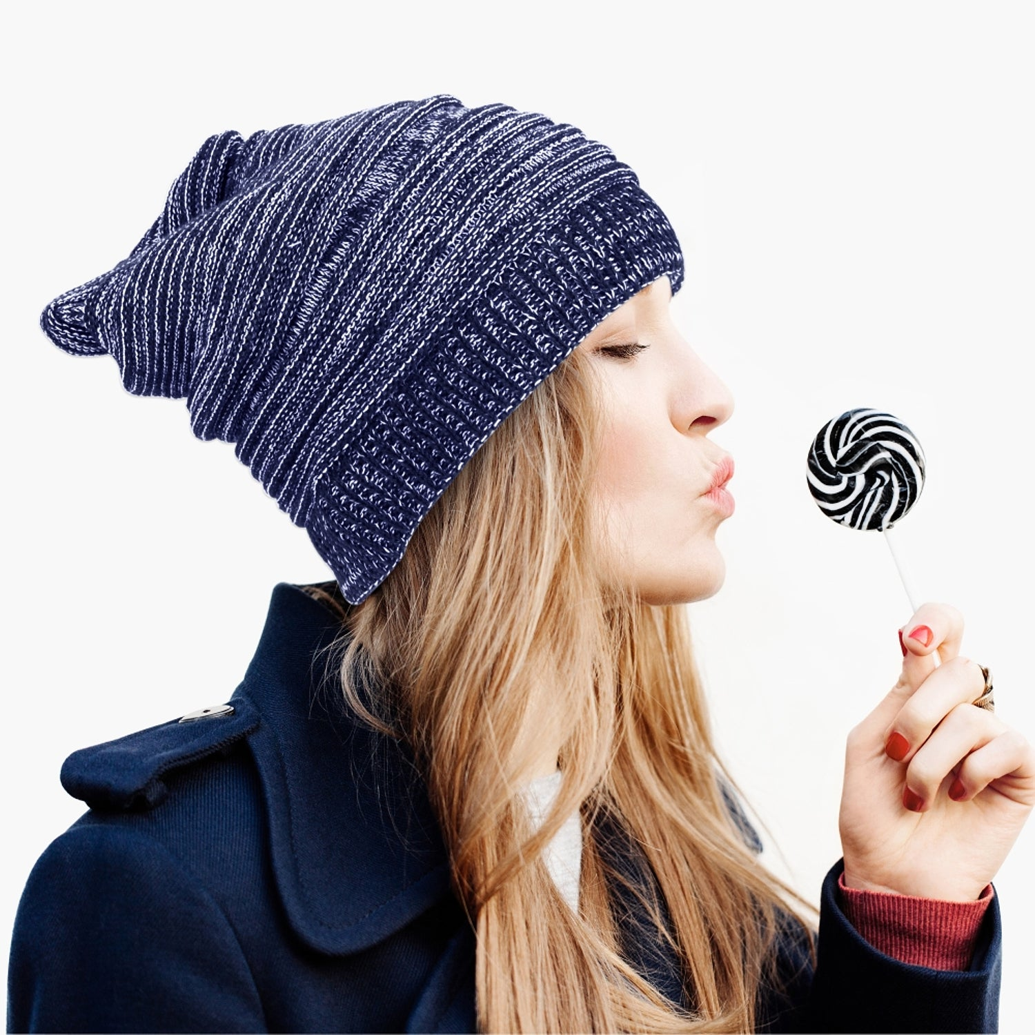 8e7eeca18b9e3 Shop Zodaca Unisex Winter Oversized Chunky Mix Color Warm Cable Knit Baggy Beanie  Knit Hat Skull Cap for Men and Women - Free Shipping On Orders Over  45 ...
