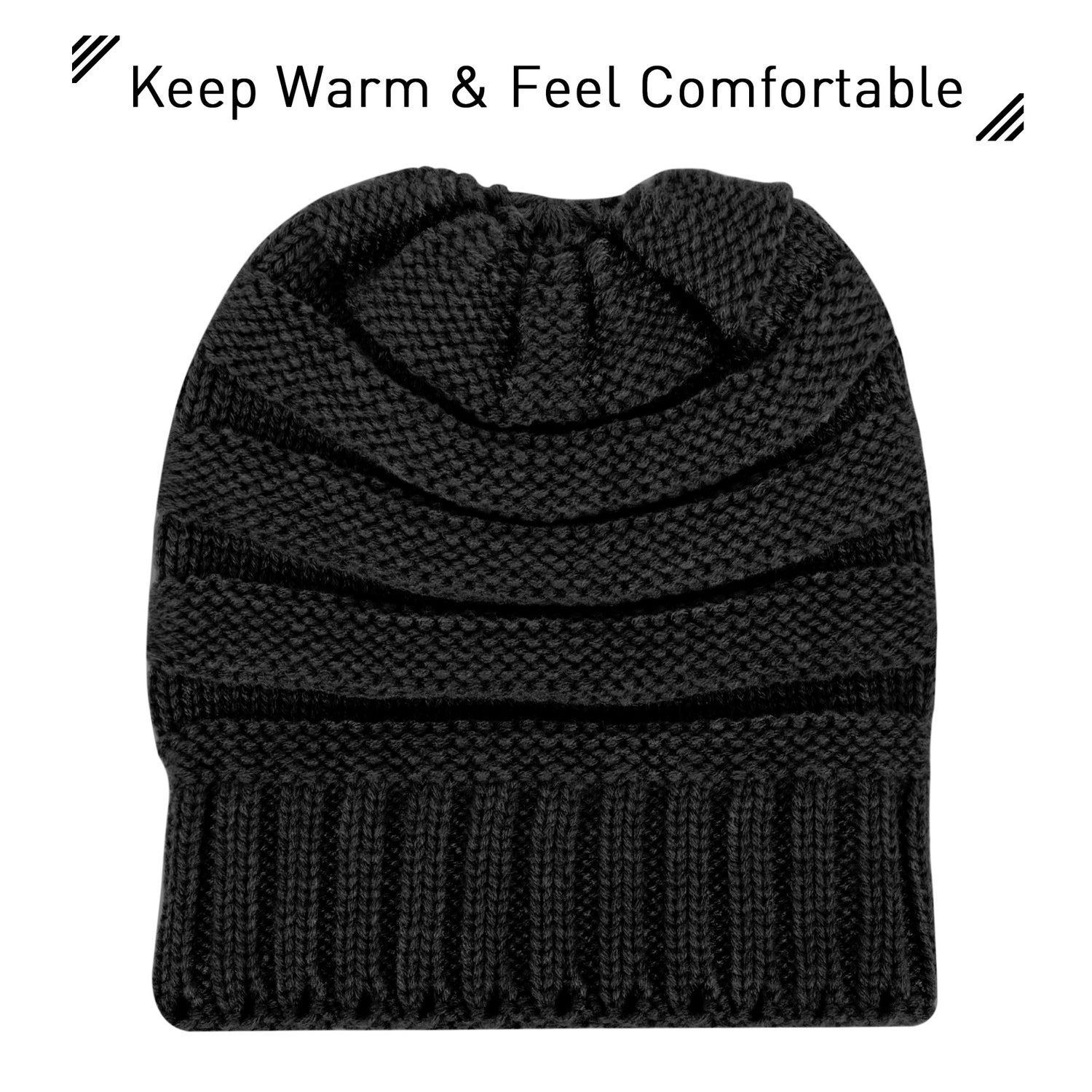 6b752f10bad Shop Zodaca Unisex Oversized Wavy Cable Knit Slouchy Beanie Knit Hat Skull  Cap for Men and Women - On Sale - Ships To Canada - Overstock.ca - 18823241