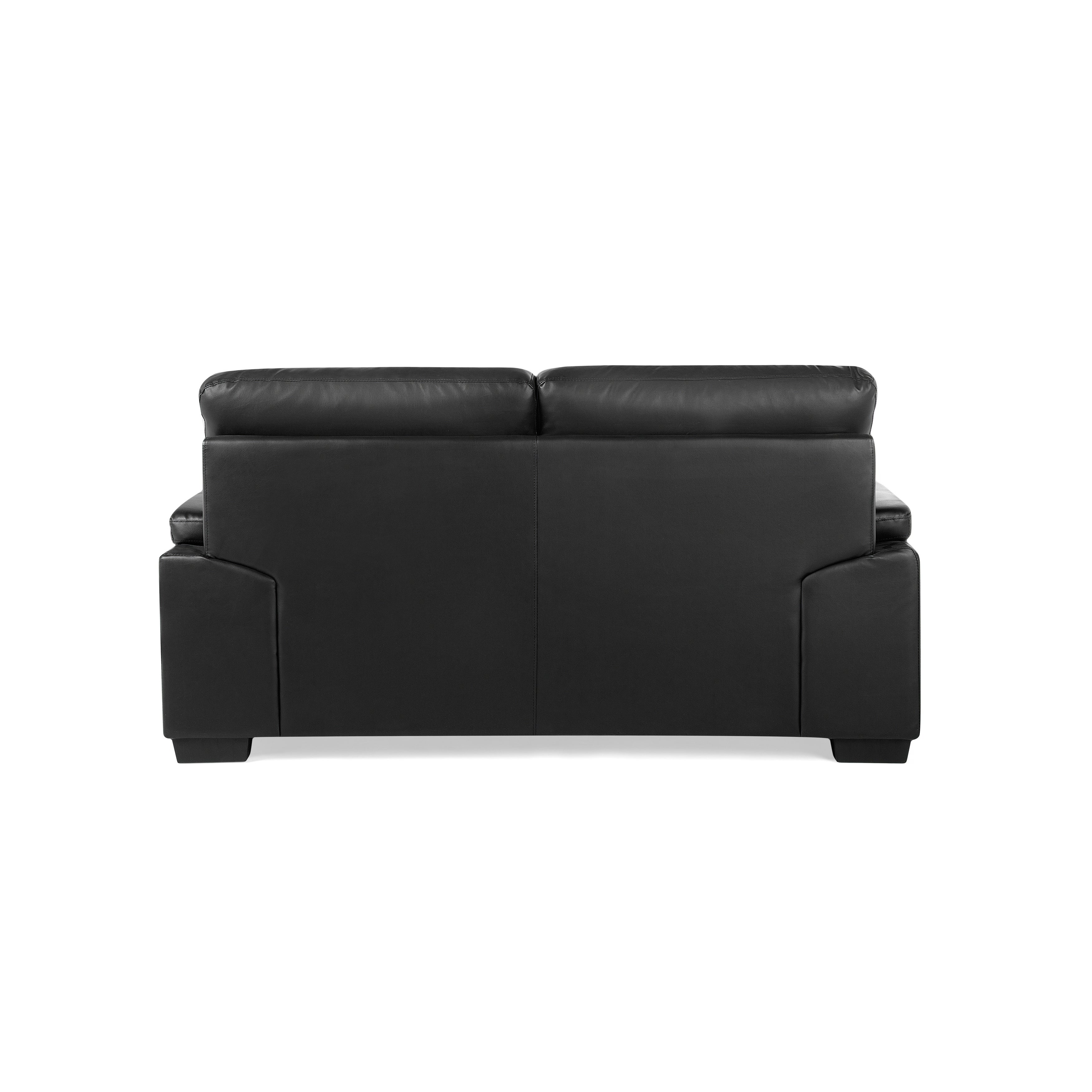Shop Classic 2 Seater Leather Sofa - Black VOGAR - Free Shipping ...
