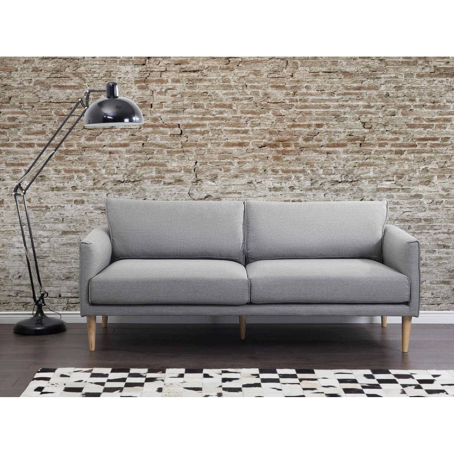 Modern Fabric Sofa Gray Uppsala Free Shipping Today 18824248