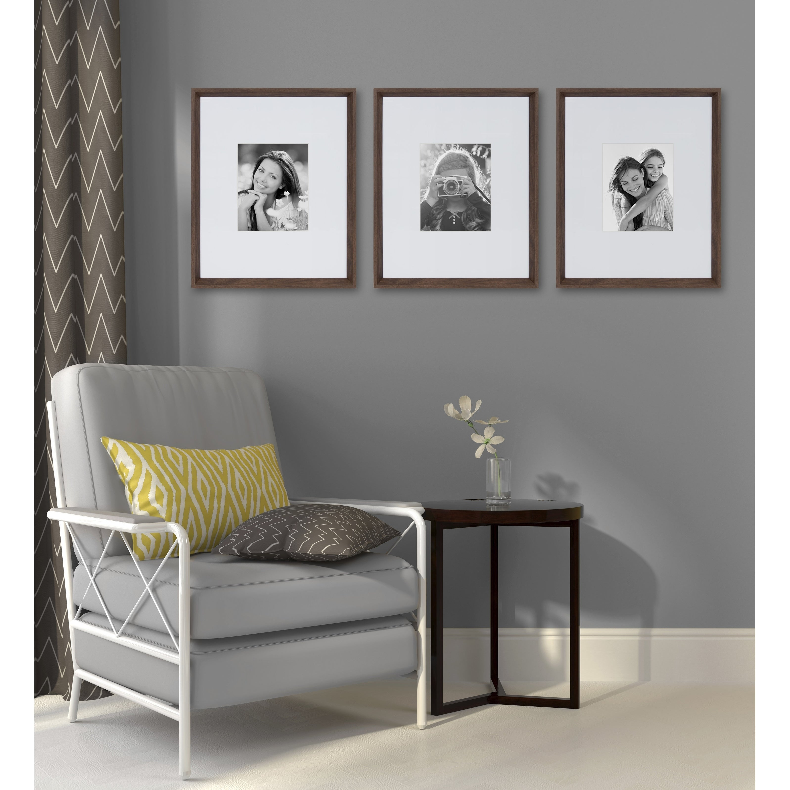 Shop Kate And Laurel Calter 3 Piece Matted Wall Picture Frame Set