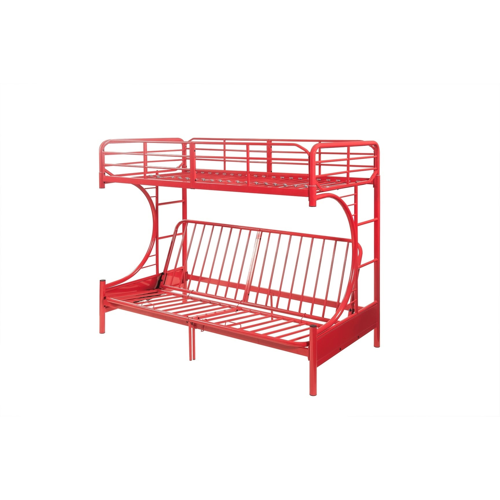 Shop ACME Eclipse Twin Over Full Futon Bunk Bed in Red - Free ...