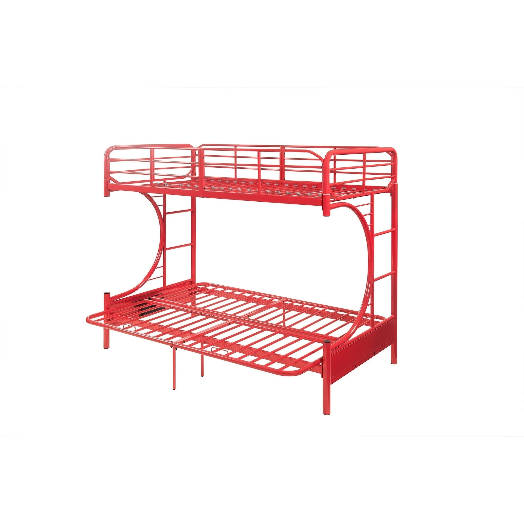 Shop Acme Eclipse Twin Over Full Futon Bunk Bed In Red Free