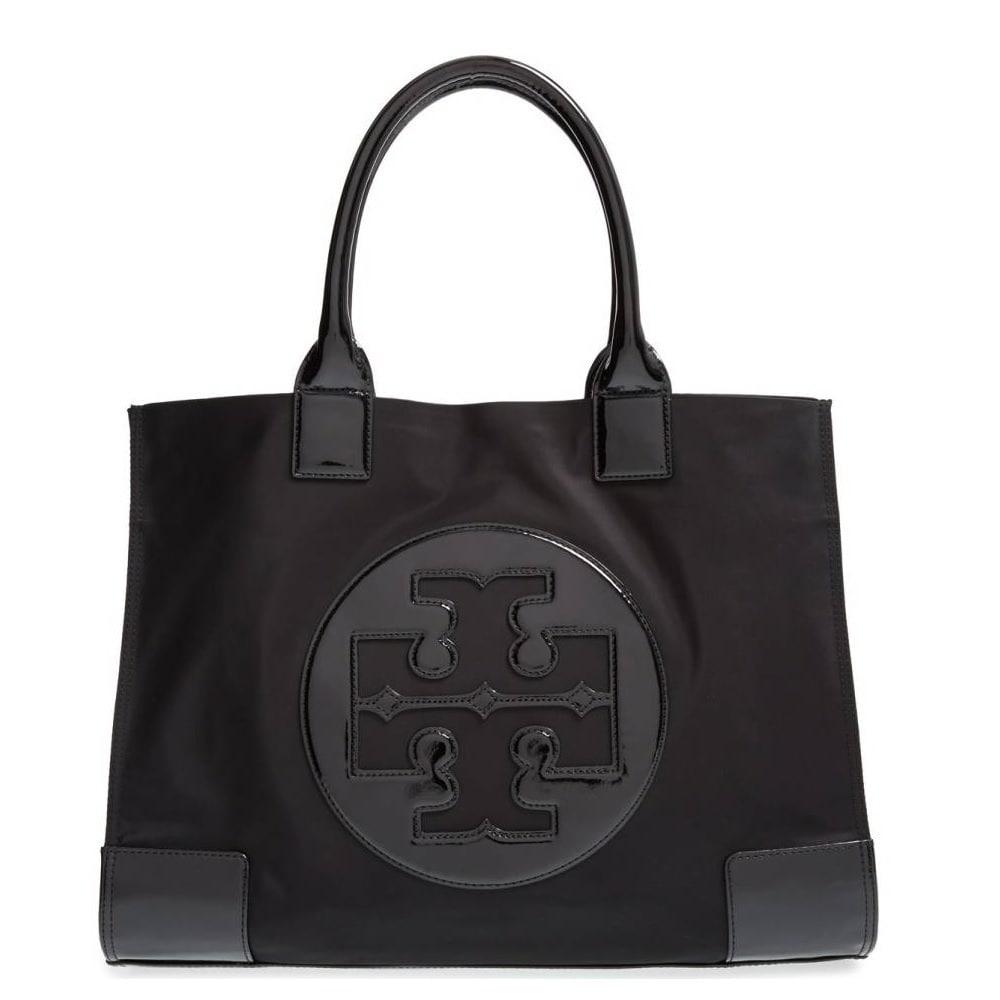 980c0bee8909 Shop Tory Burch Ella Black Nylon Tote Bag - Free Shipping Today ...