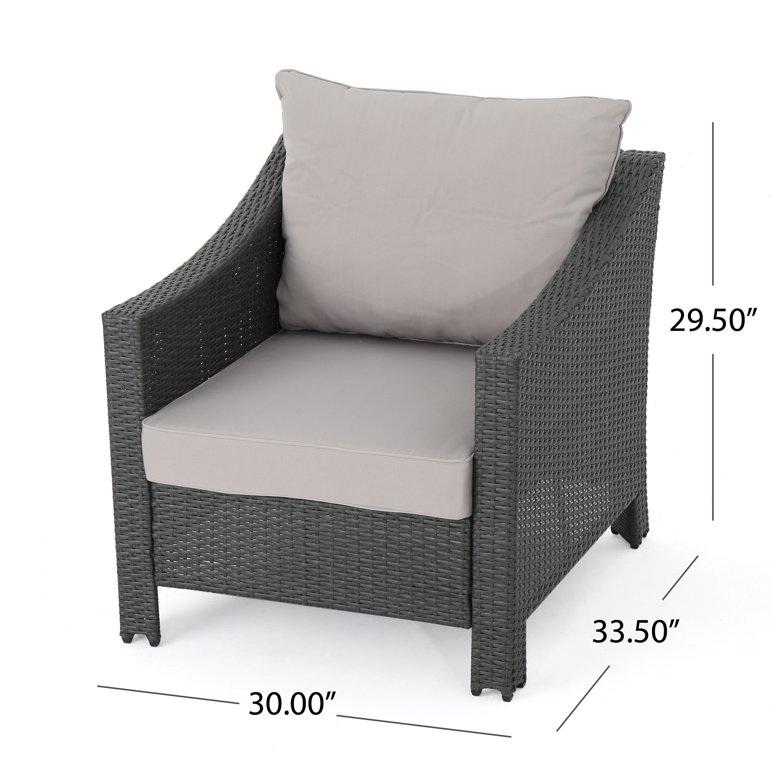 shop antibes outdoor 5 piece wicker club chair set with square