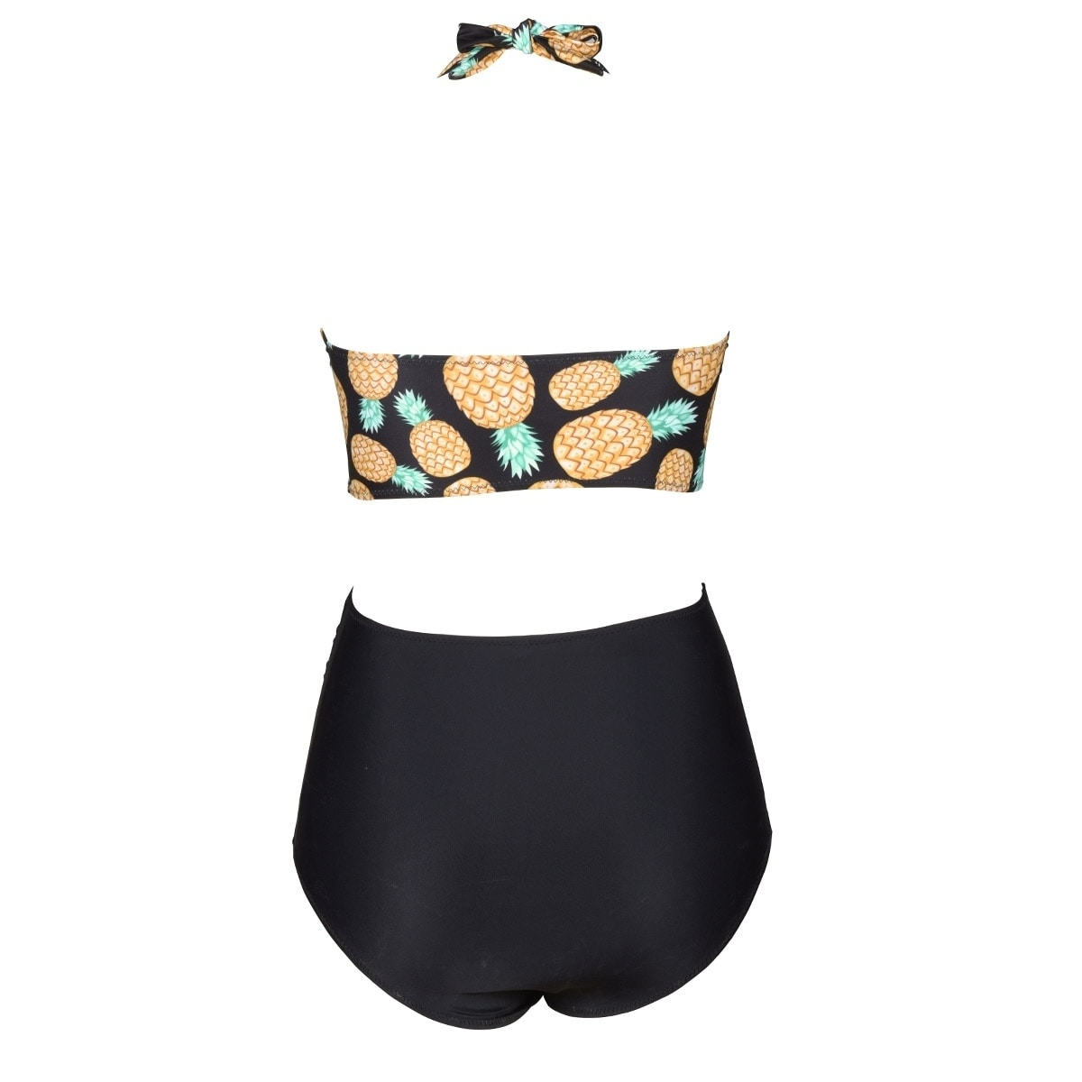 76c3b48f0a6b0 Shop Cupshe Women s Pineapple Printing High-waisted Swimsuit Padded Halter  Bikini Set - Free Shipping On Orders Over  45 - Overstock - 18842953