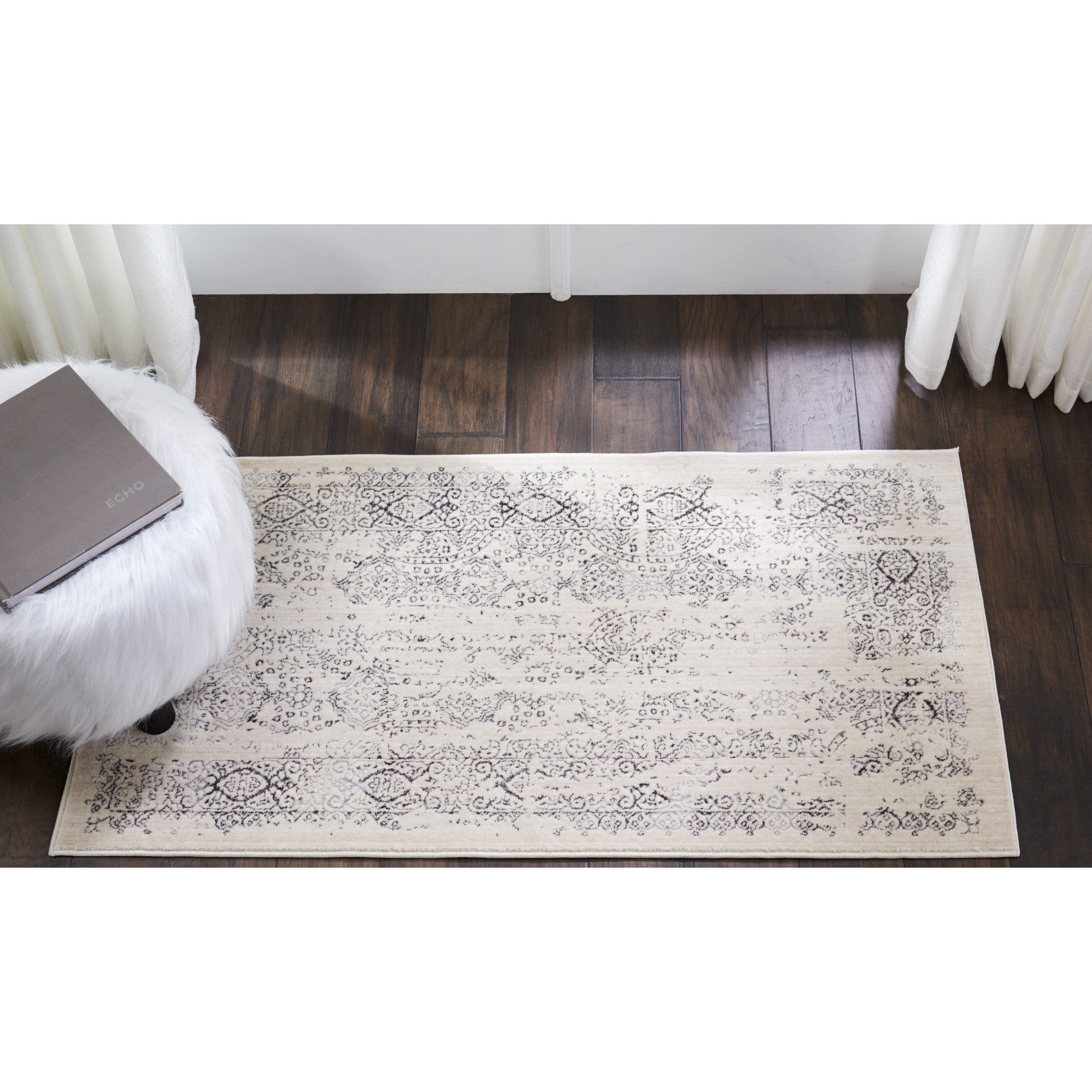 Shop Kathy Ireland Silver Screen Ivorygrey Area Rug By Nourison 2