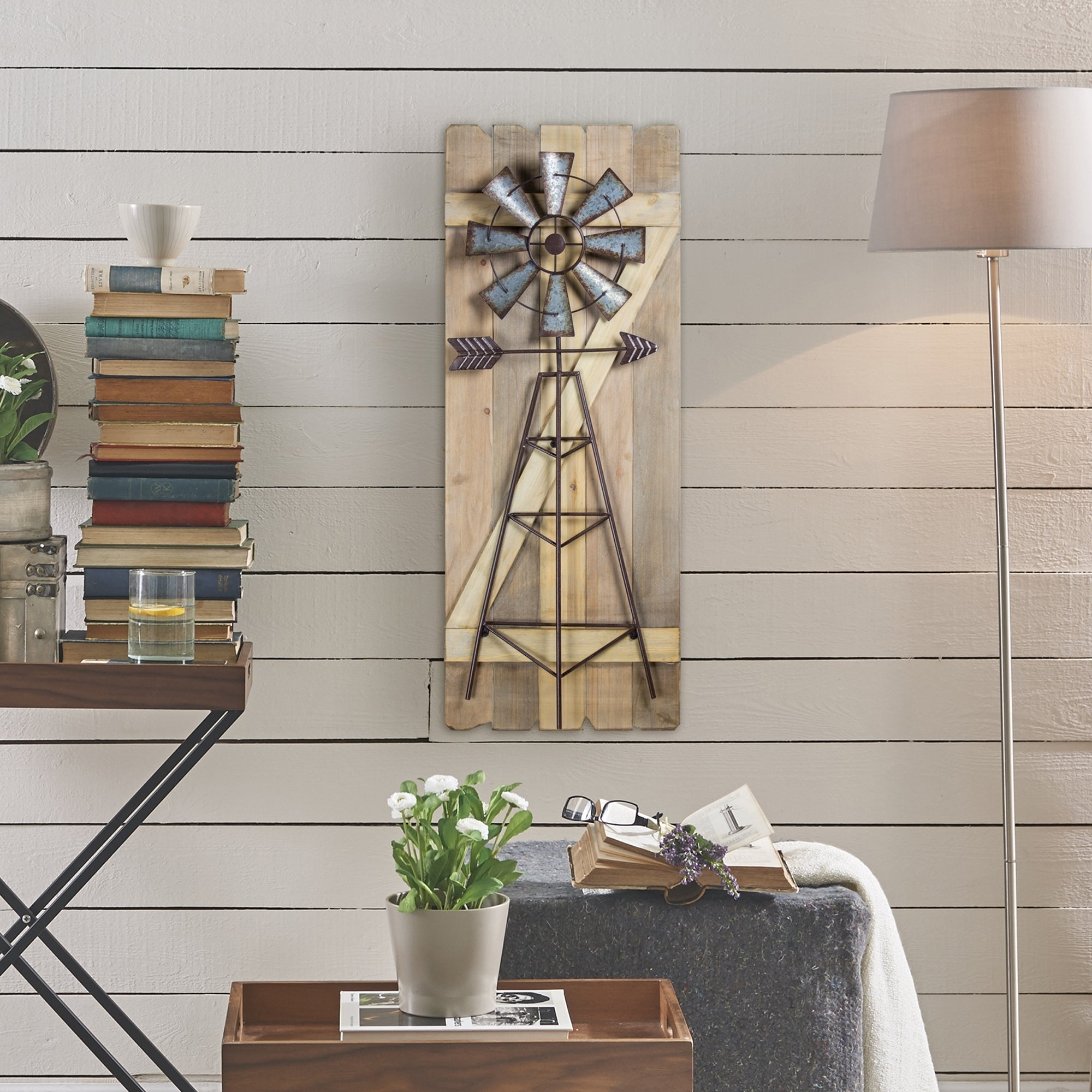 Windmill Arrow Wood Metal Hanging Wall Decor Free Shipping Today