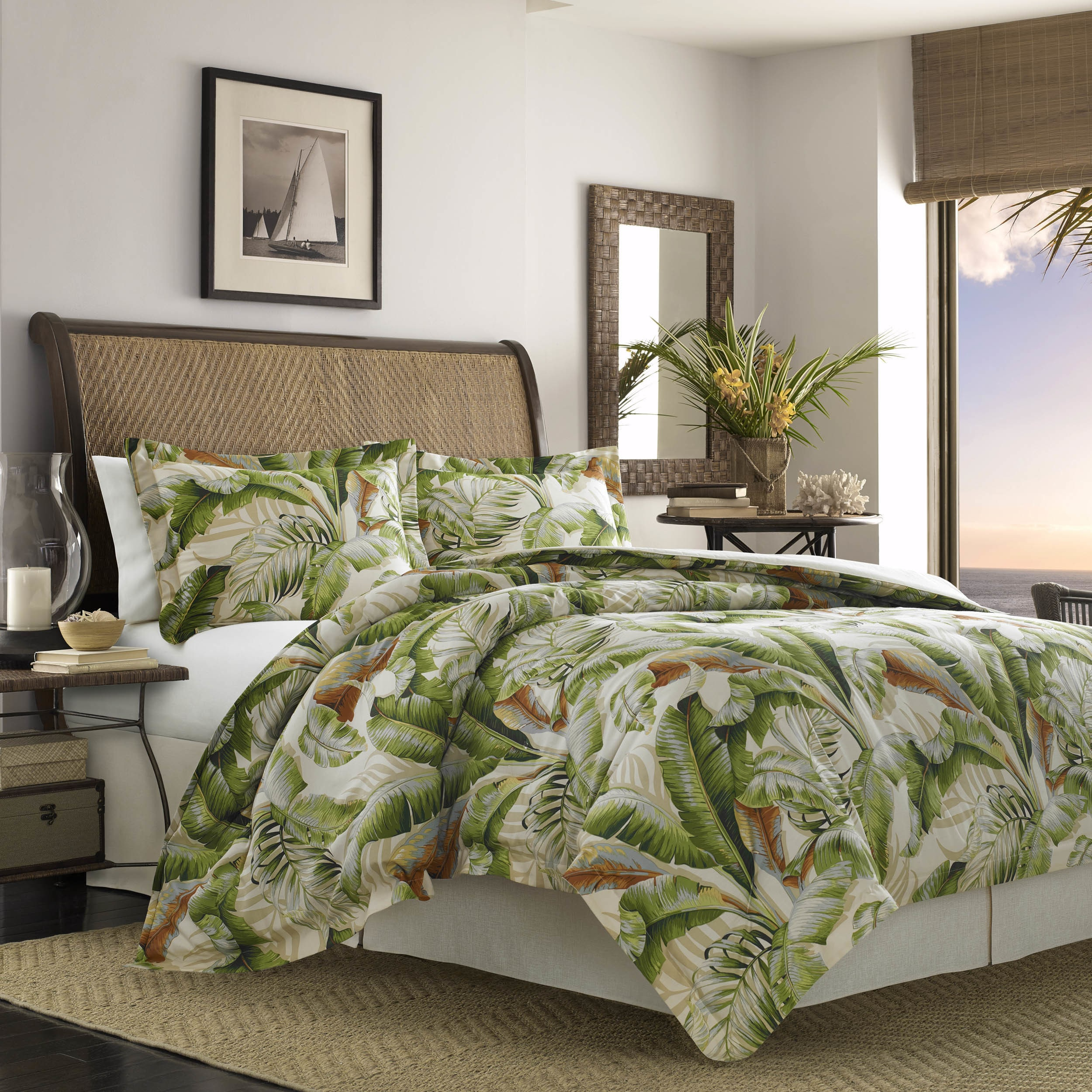c0568fa392b58 Shop Tommy Bahama Palmiers 4-piece Comforter Set - On Sale - Free Shipping  Today - Overstock - 18843885