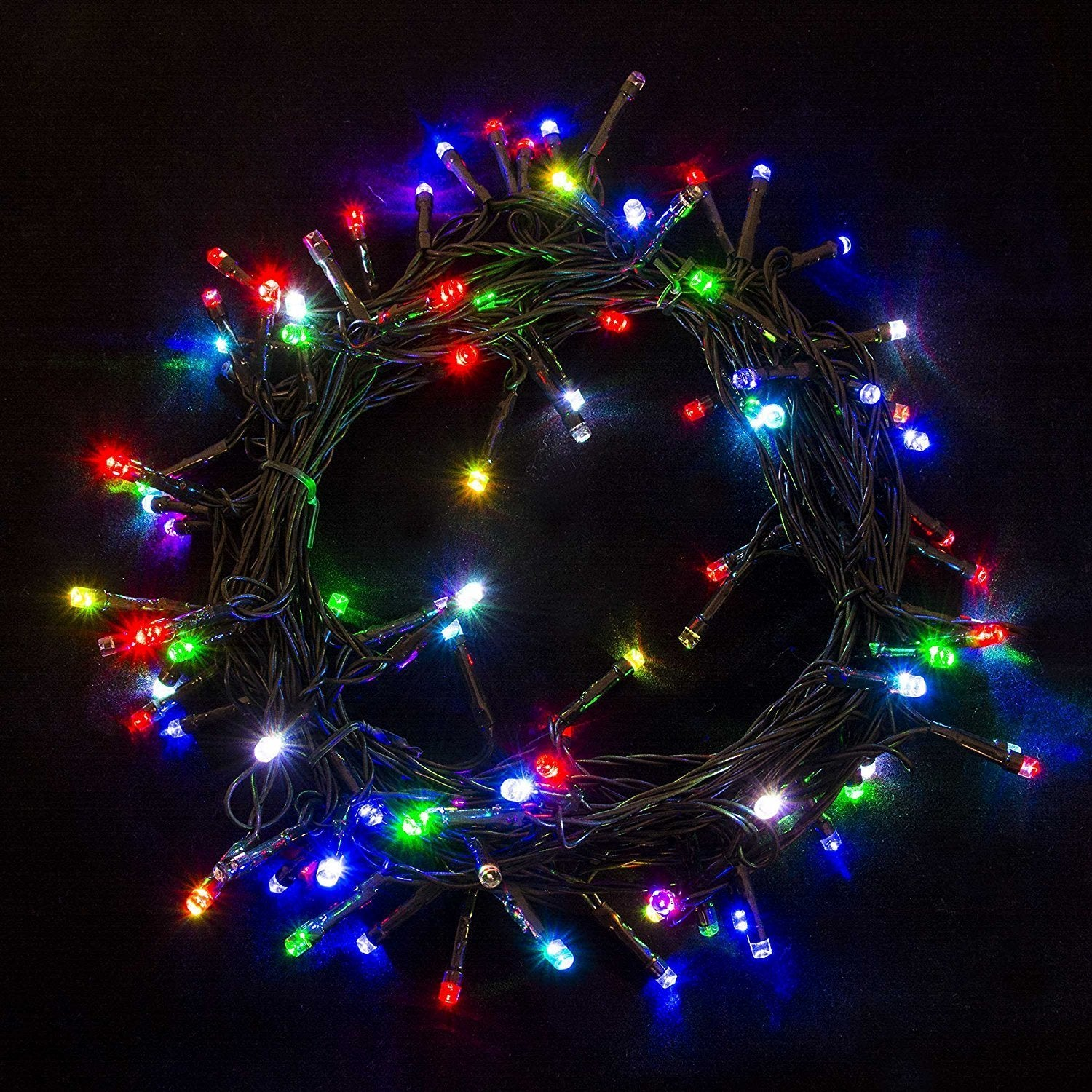 Shop Electric 100 LED Multicolor Christmas Holiday Light 34 Feet - On Sale - Ships To Canada - Overstock - 18843962