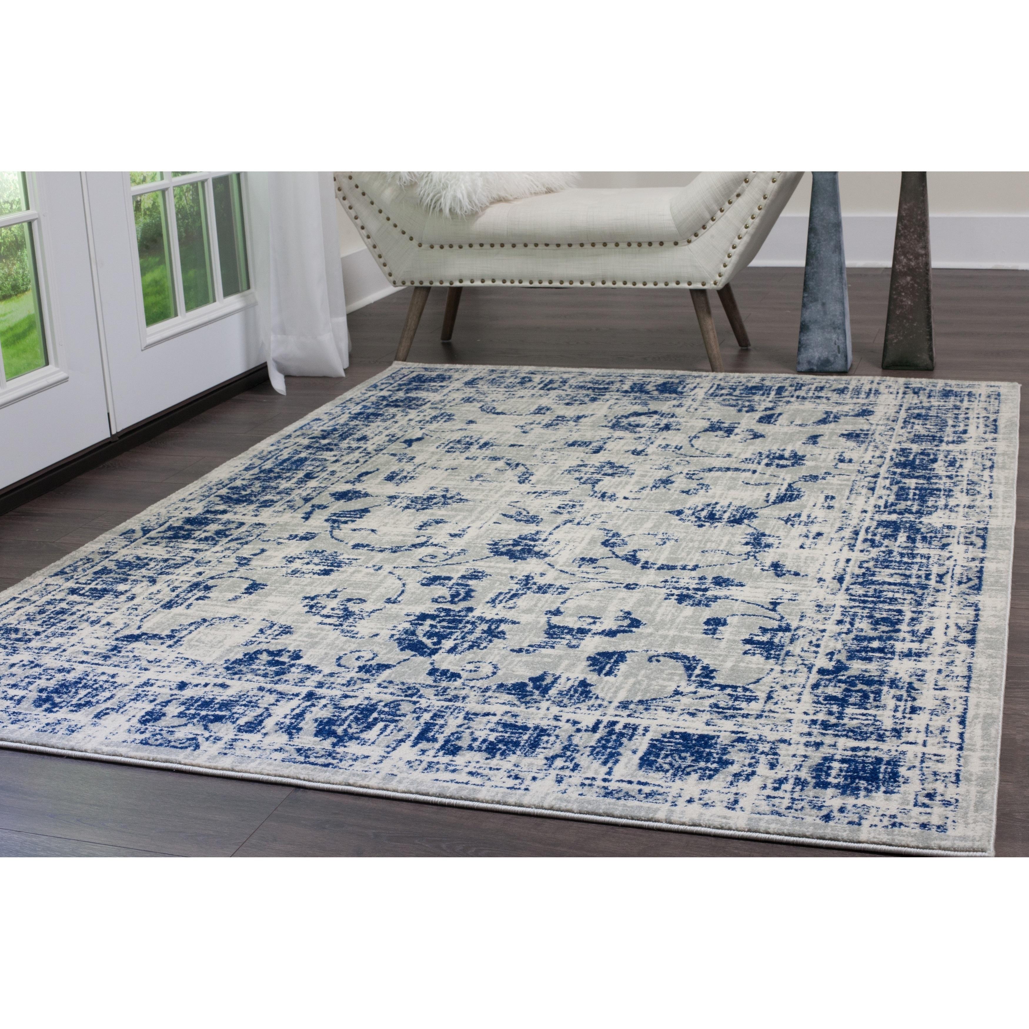 Home Dynamix Vintage Gray Blue 26x12u00278 Persian Area