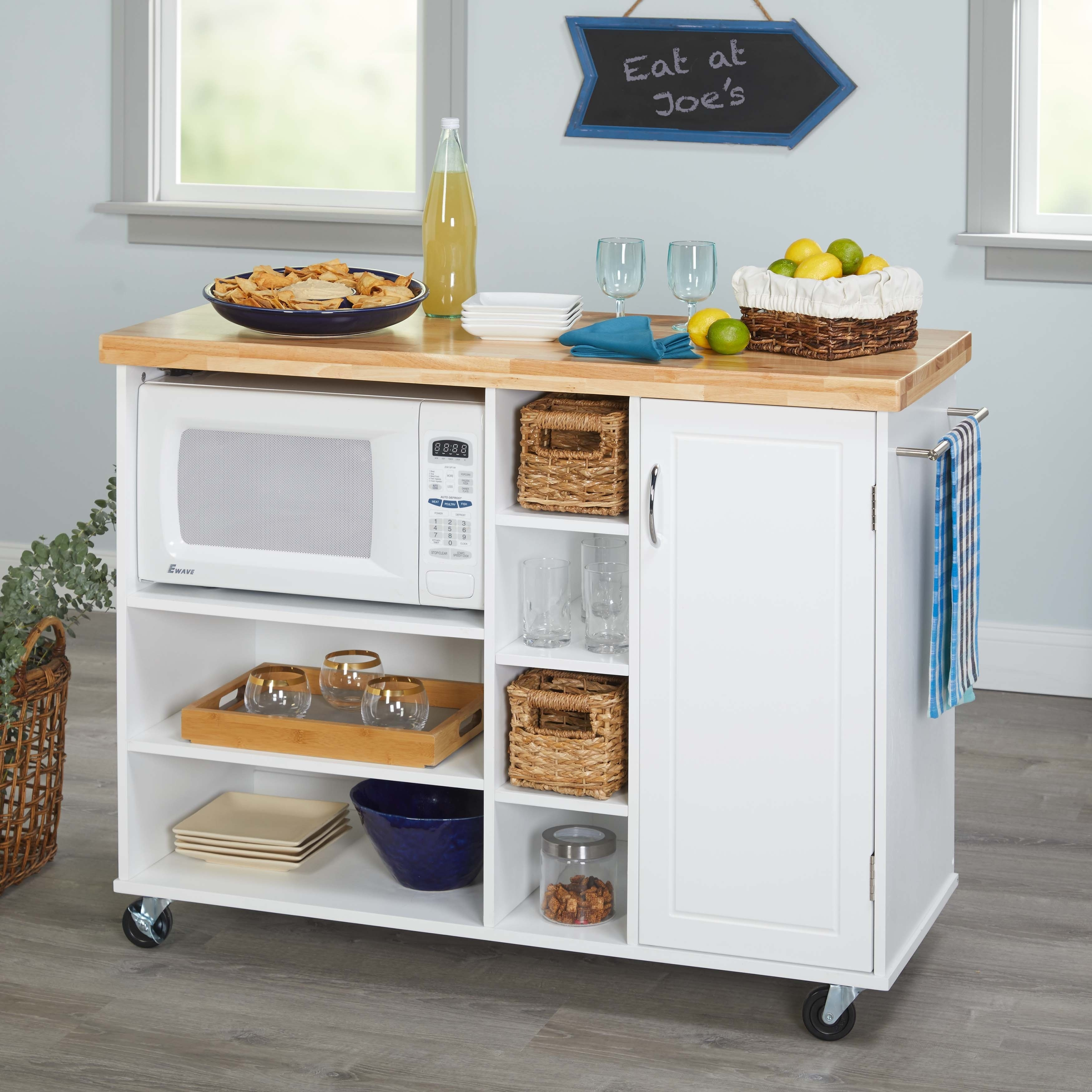 Simple Living Rolling Galvin Microwave Cart On Free Shipping Today 18848623