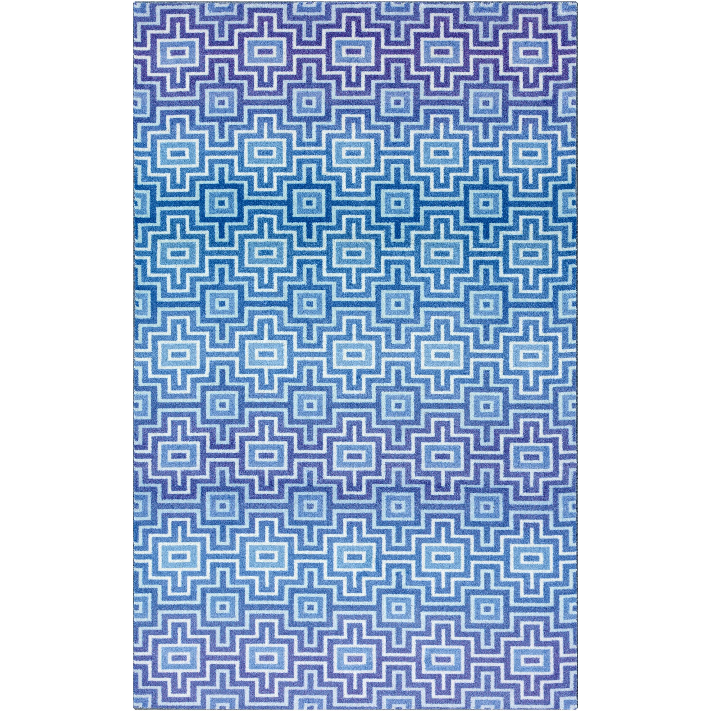Shop Mohawk Blue Prismatic Linear Maze Geometric Area Rug - 8\' x10 ...