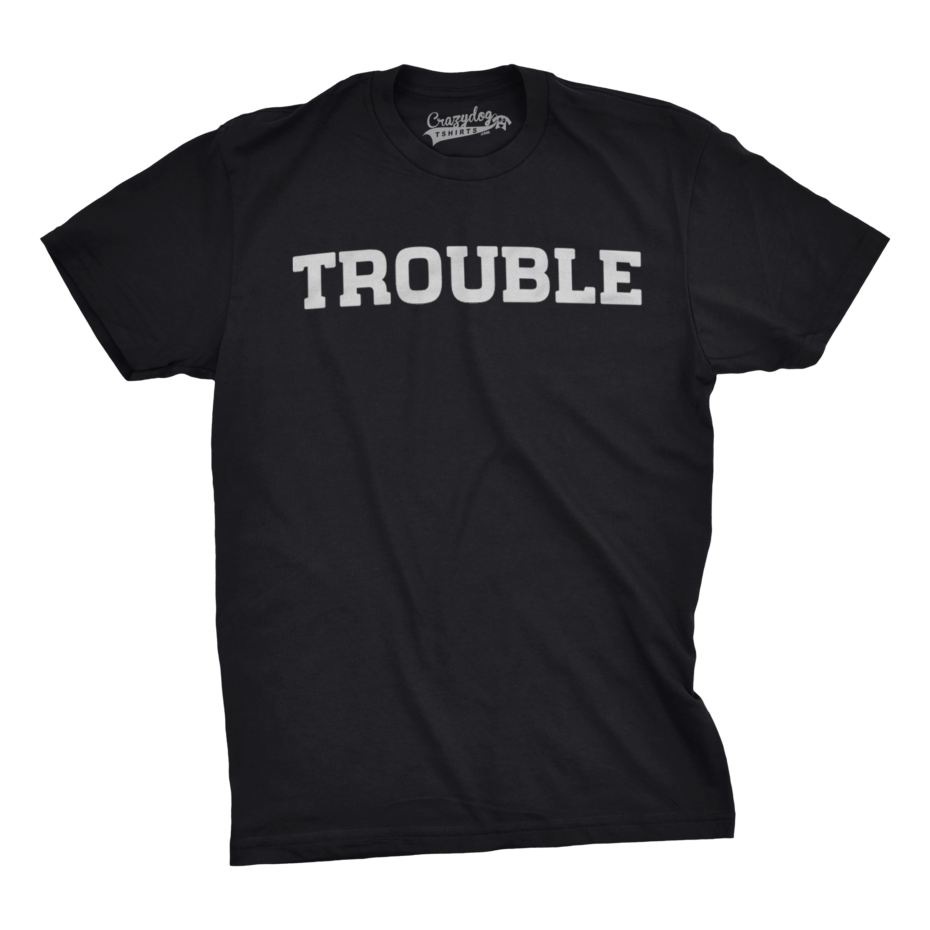 ed209b7fce7e Shop Youth Trouble Shirt Funny T shirts for Kids Hilarious Troublemaker  Gift Idea Cute T shirt - Free Shipping On Orders Over $45 - Overstock -  18849325