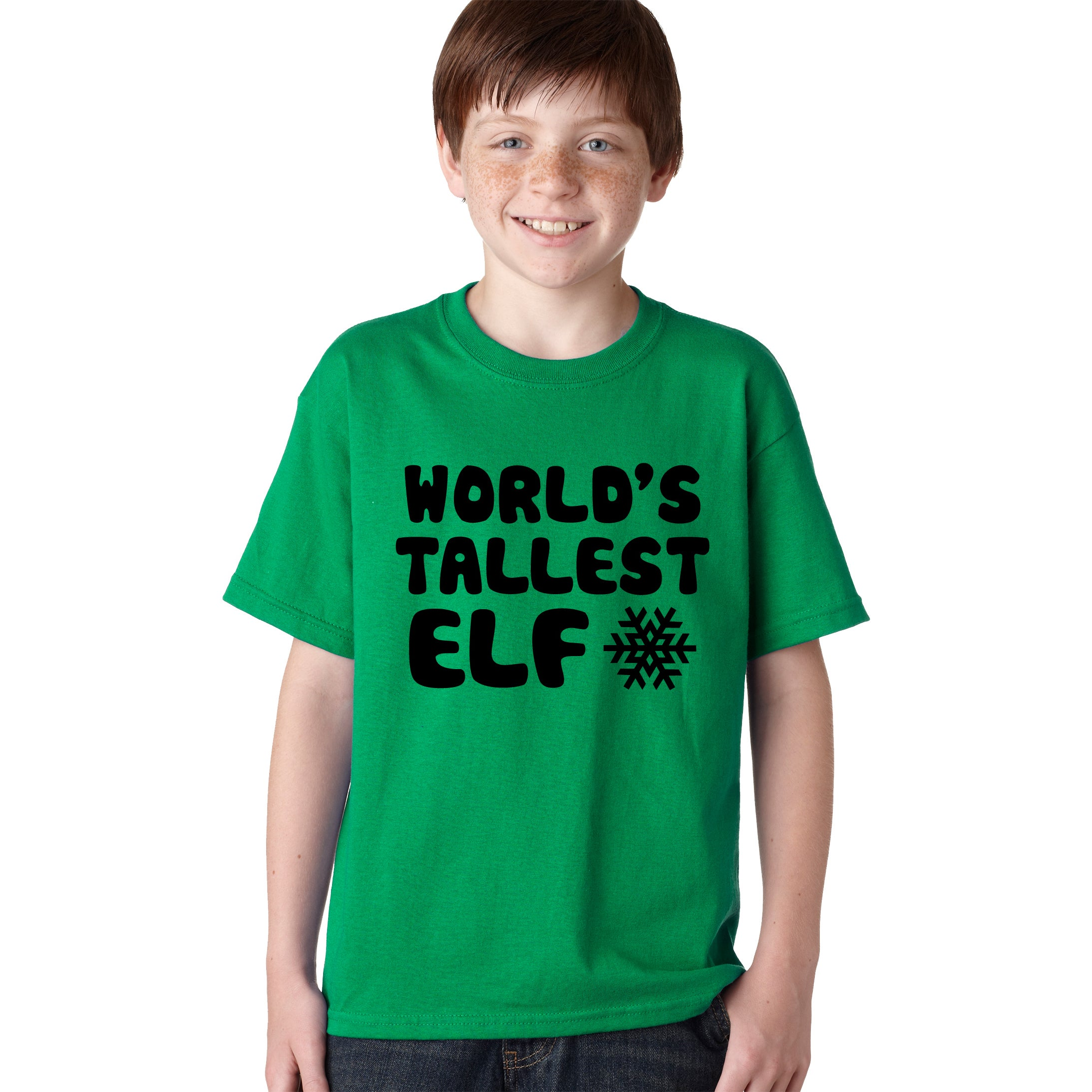 b2284871c Shop Youth World's Tallest Elf T Shirt Funny Christmas Tee Elves Shirt For  Kids - Free Shipping On Orders Over $45 - Overstock - 18849734