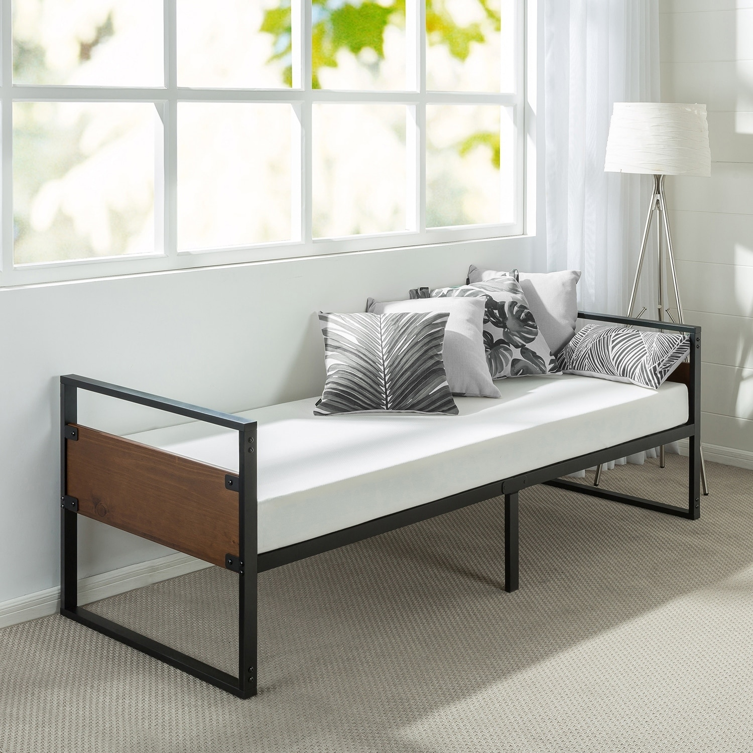 Shop Priage Ironline 30 Inch Narrow Size Day Bed Frame and Foam ...
