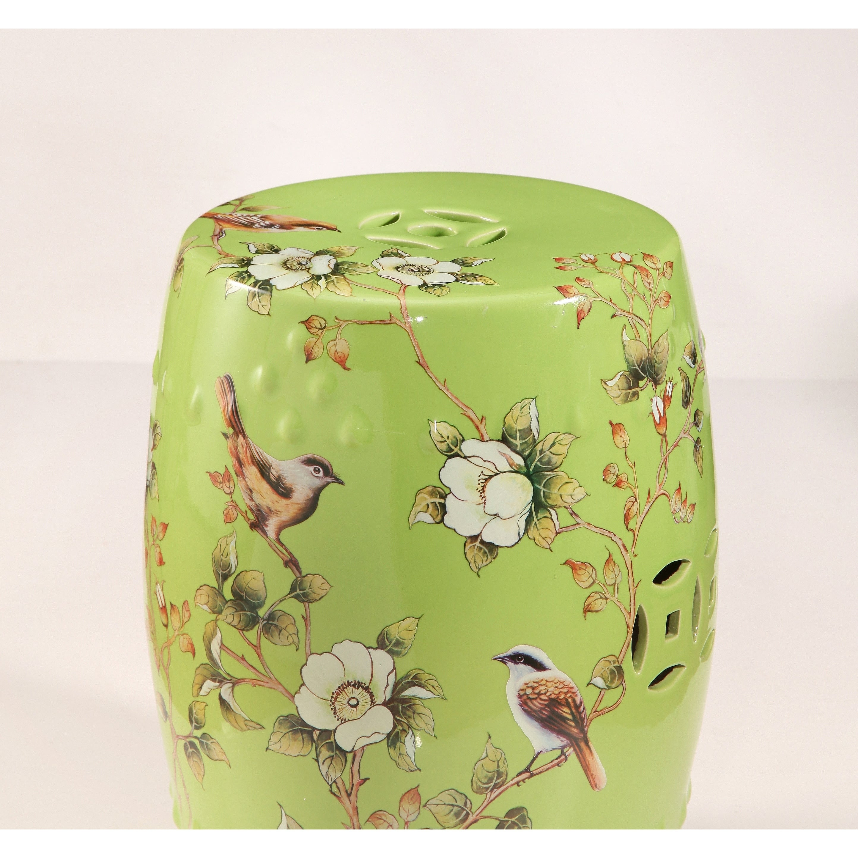 Exceptionnel Shop Abbyson Kyoto Hand Painted Floral Ceramic Garden Stool, Lime Green    Free Shipping Today   Overstock.com   18850715