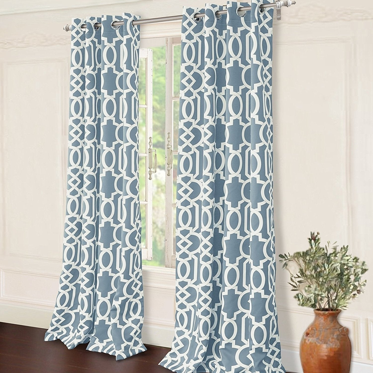 blackout eclipse by l uk panel kids inch co window kitchen amazon curtain polka single curtains pool dots home dp teal