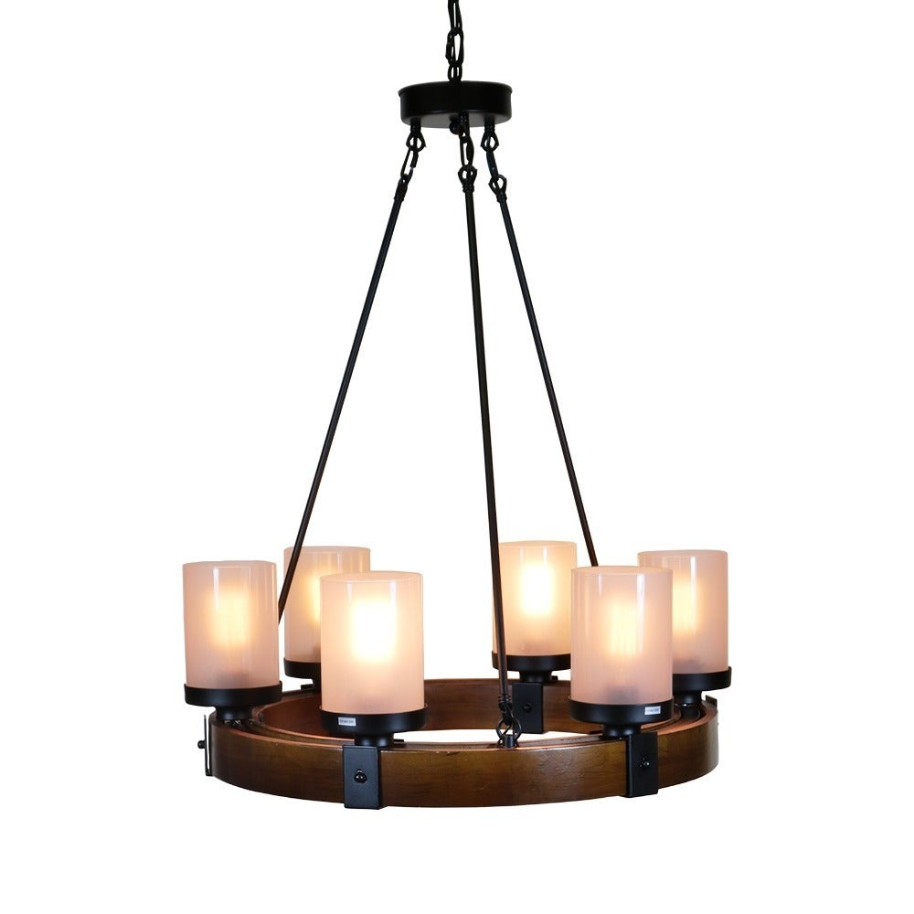 metal and wood chandelier. Warehouse Of Tiffany Casity Black/Brown Wood/Metal/Frosted Glass 6-light Lodge And Tavern Wood Chandelier - Free Shipping Today Overstock 24939007 Metal