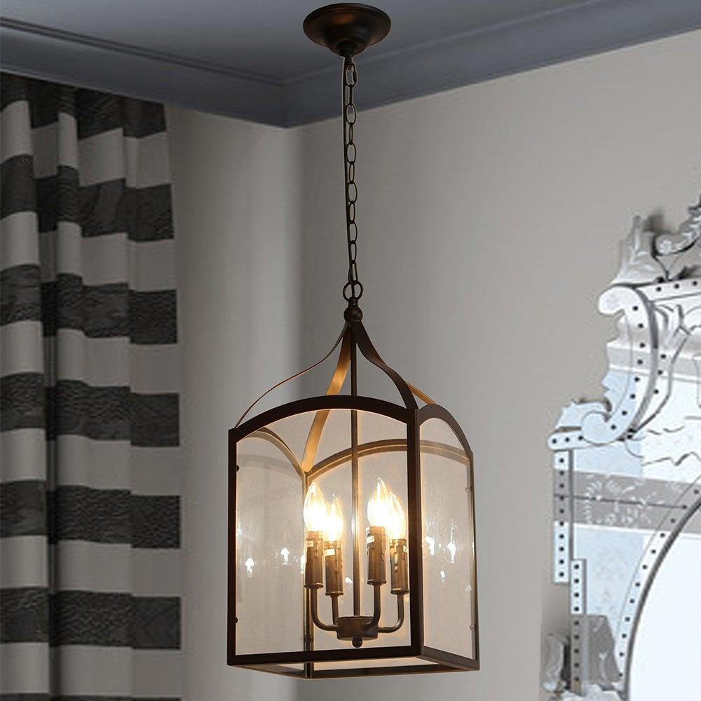 Suntin 4 light black chandelier edison bulbs included free suntin 4 light black chandelier edison bulbs included free shipping today overstock 24939668 arubaitofo Image collections