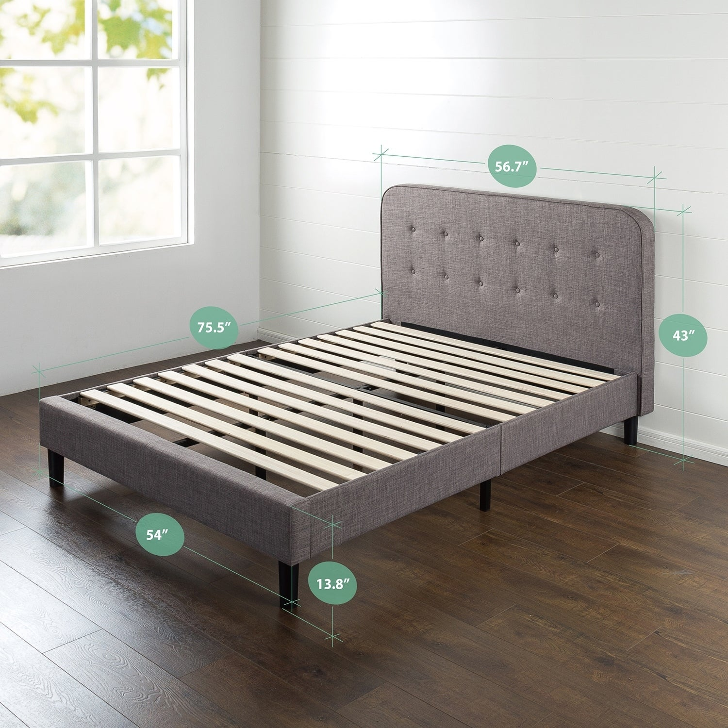 Merveilleux Shop Priage Upholstered Curved Platform Bed   On Sale   Free Shipping Today    Overstock.com   18895027