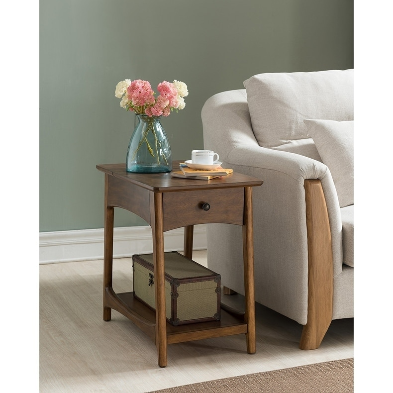Shop The Mid-Century Modern Side Table with Charging Station - Free ...