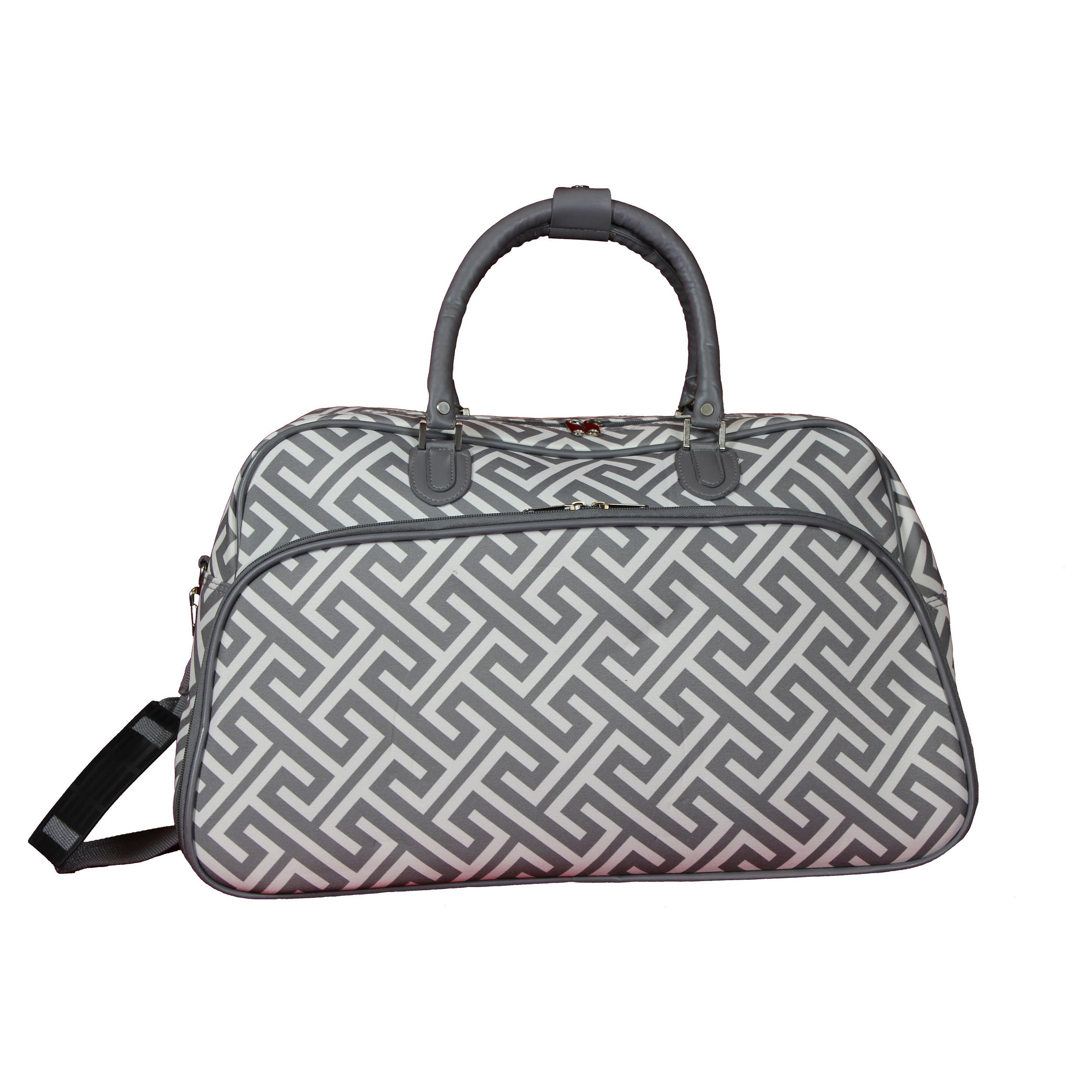 Shop World Traveler Greek Key 21-Inch Carry-On Shoulder Tote Duffle Bag -  Free Shipping On Orders Over  45 - Overstock.com - 18904391 cdf04a328a