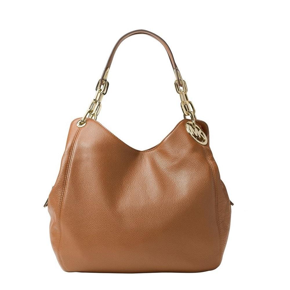 5728d60cc5e4 Shop Michael Kors Fulton Large Acorn Leather Shoulder Handbag - Free  Shipping Today - Overstock - 18904663