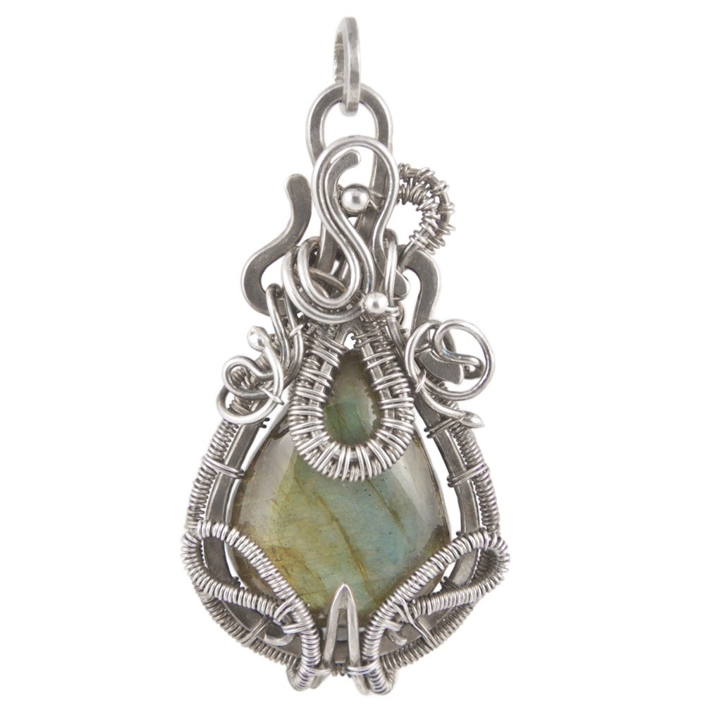 Shop Handmade - Healing Stones for You Labradorite Wire Wrapped ...
