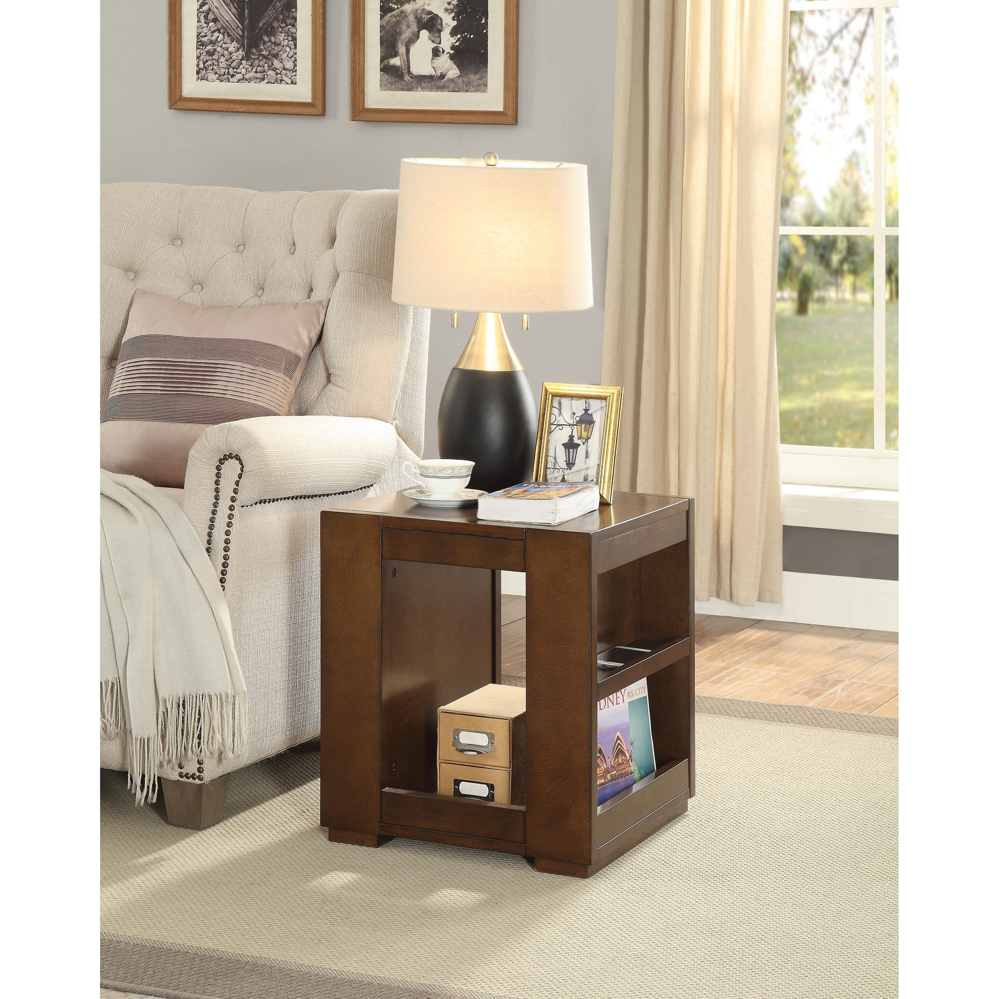 Shop Acme Pisanio End Table In Espresso Free Shipping Today Austin Flats Millie Beige 39 18909247
