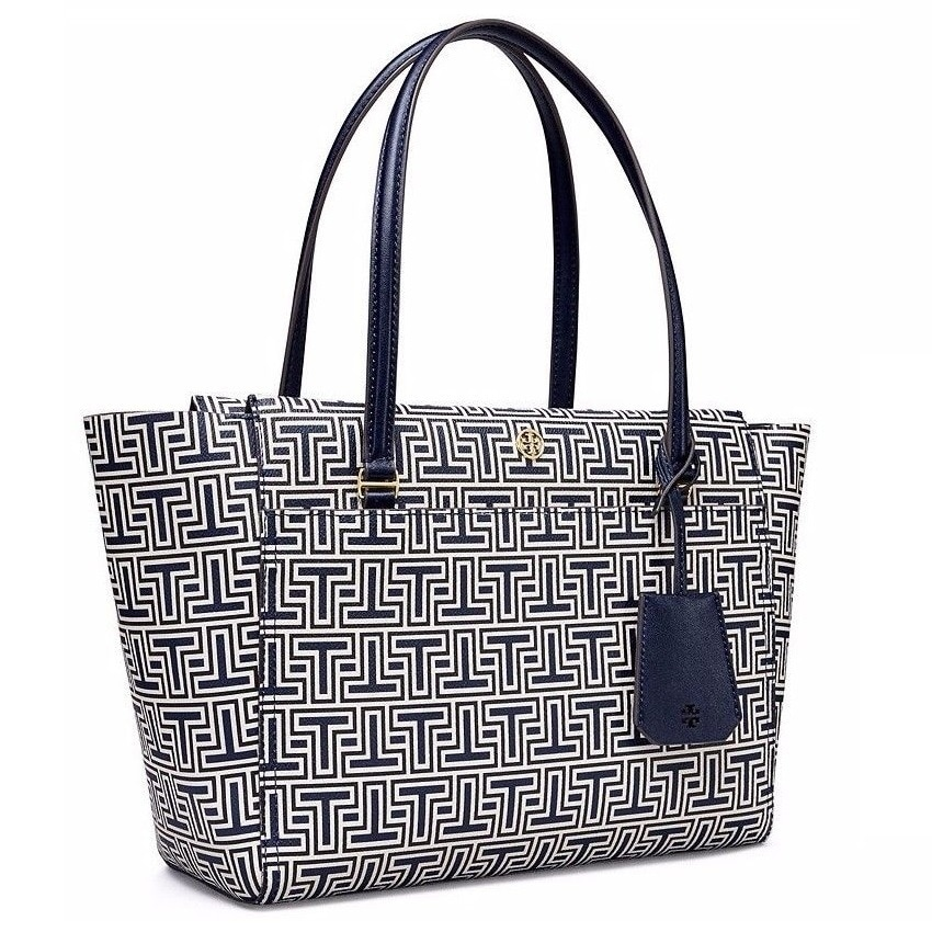 1326c7548845 Shop Tory Burch Parker Geo-T Small Tote Bag - Free Shipping Today -  Overstock - 18917892