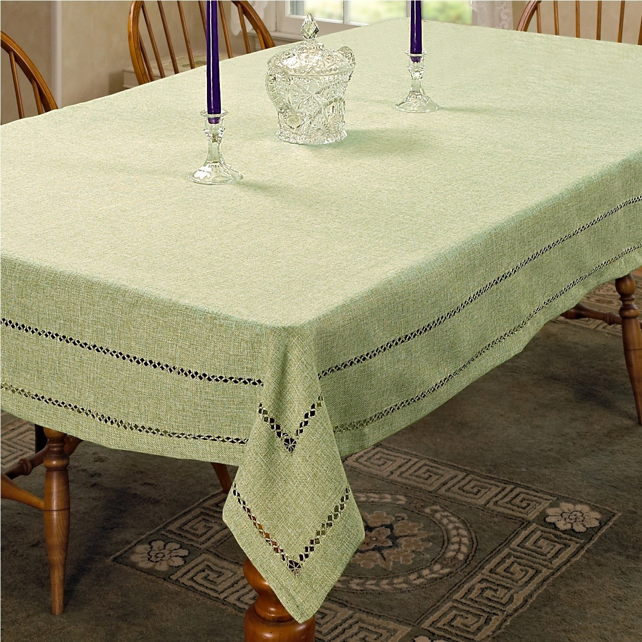 Violet Linen Hem Sch Embroidered Design Tablecloth Orted Colors On Free Shipping Orders Over 45 18945749