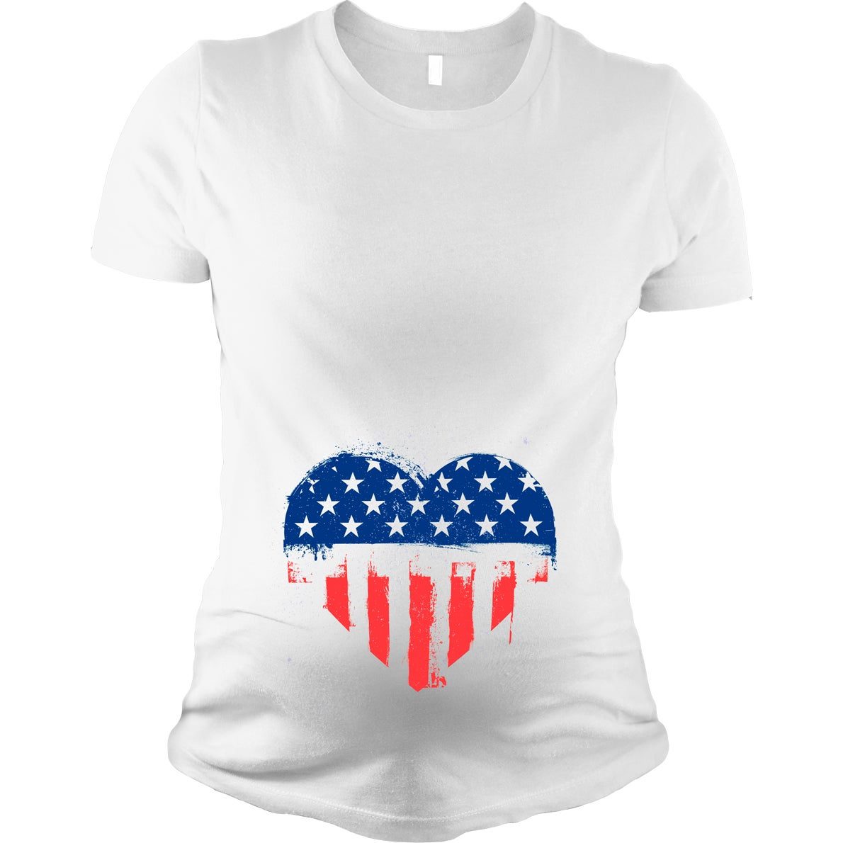 4ffcecae87879 Shop Maternity USA Heart American Flag T-shirt - On Sale - Free Shipping On Orders  Over $45 - Overstock - 18945987