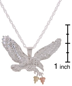 Shop black hills gold and sterling silver eagle pendant necklace shop black hills gold and sterling silver eagle pendant necklace on sale free shipping today overstock 1895176 aloadofball Choice Image