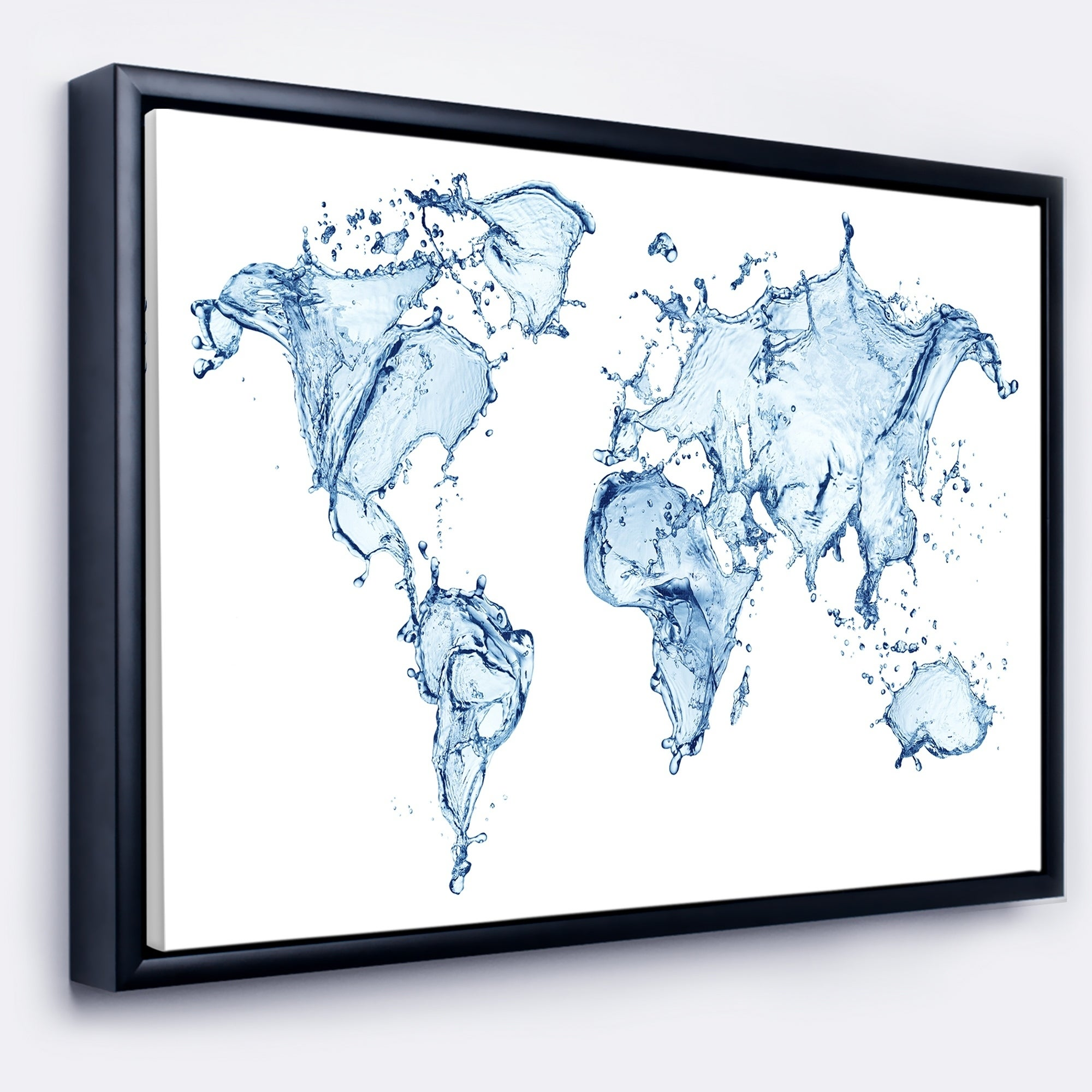 Shop designart world map water splash abstract map framed canvas shop designart world map water splash abstract map framed canvas art print free shipping today overstock 18953414 gumiabroncs Images