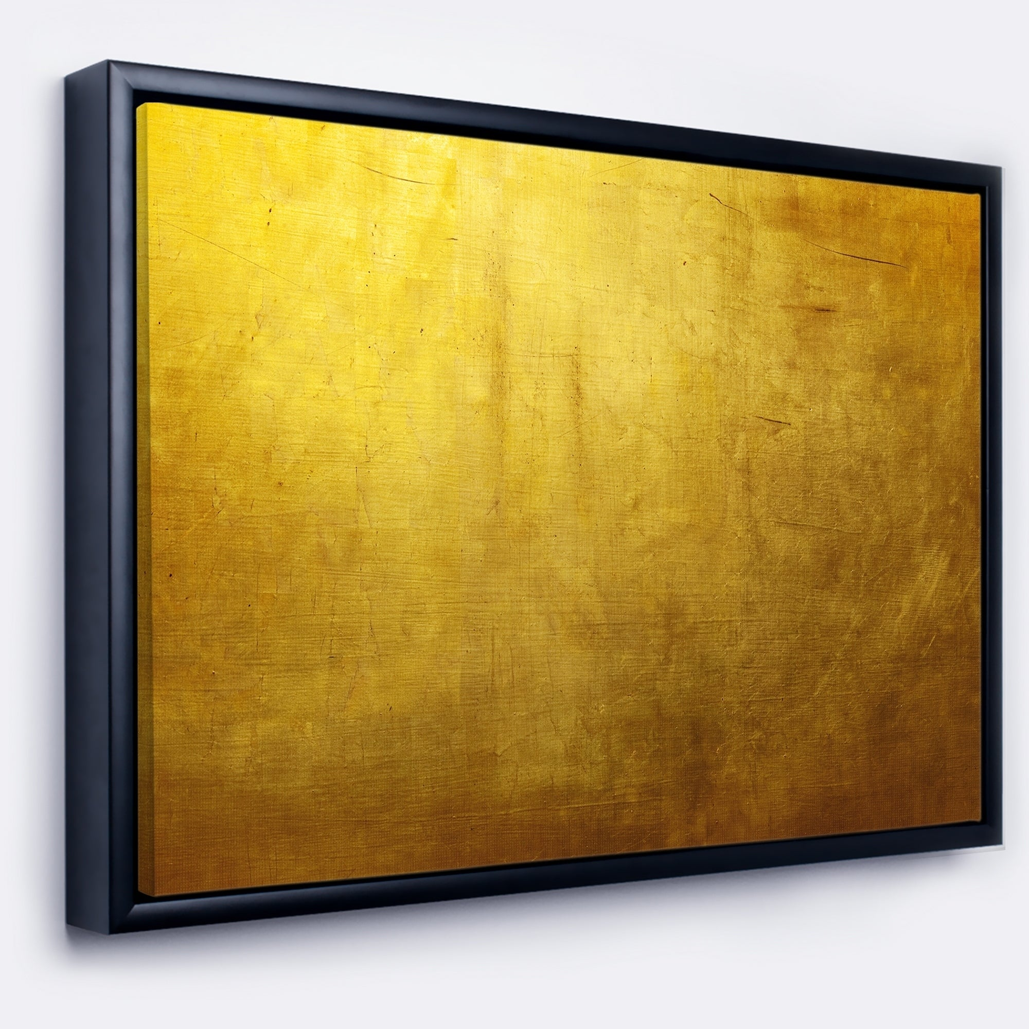 Shop Designart \'Gold Texture\' Abstract Framed Canvas art print - On ...