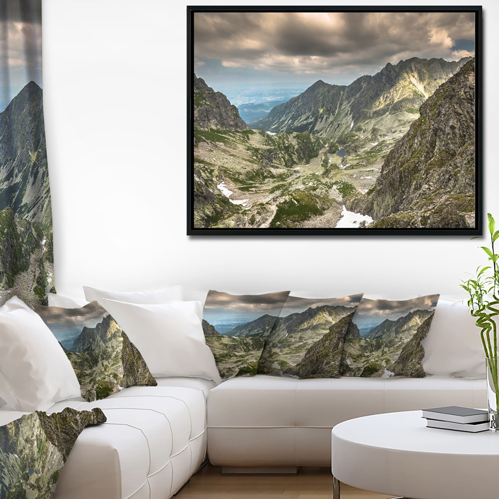 Shop Designart \'Tatra Mountains from Hiking Trail\' Landscape Photo ...