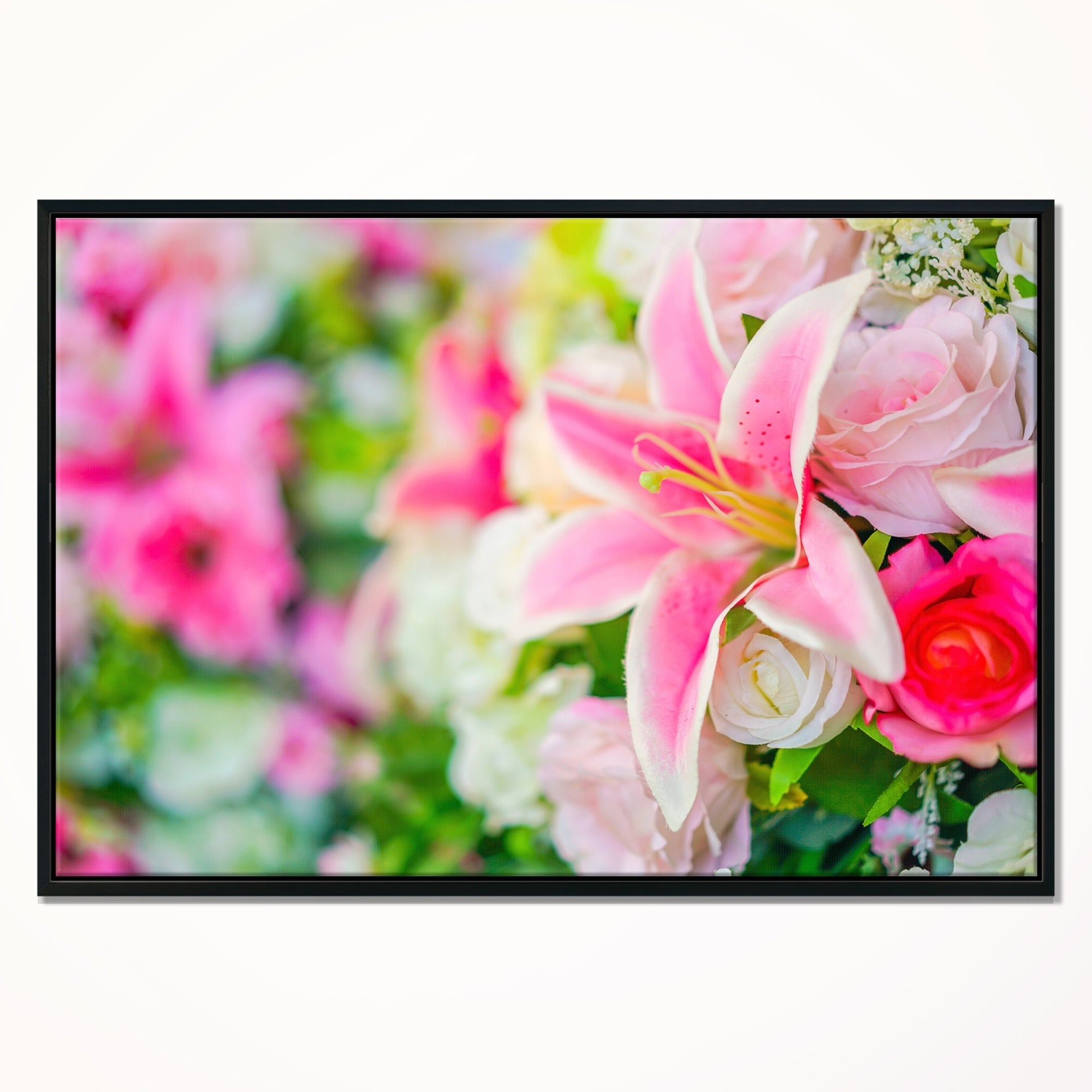 Shop designart beautiful lily flowers in bouquet floral art framed shop designart beautiful lily flowers in bouquet floral art framed canvas print on sale free shipping today overstock 18956572 izmirmasajfo