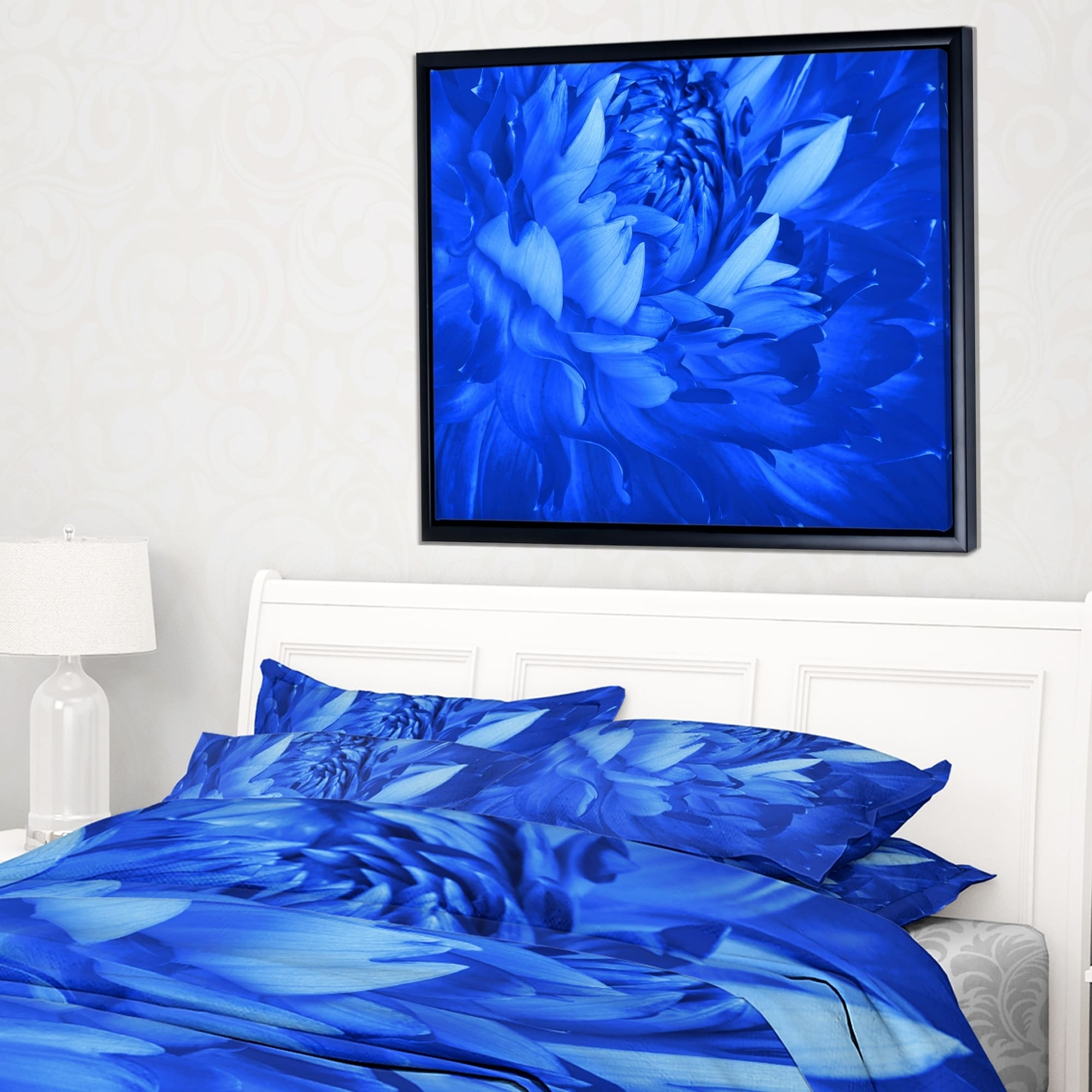 Shop designart bright blue flower petals floral framed canvas art shop designart bright blue flower petals floral framed canvas art print on sale free shipping today overstock 18959042 izmirmasajfo