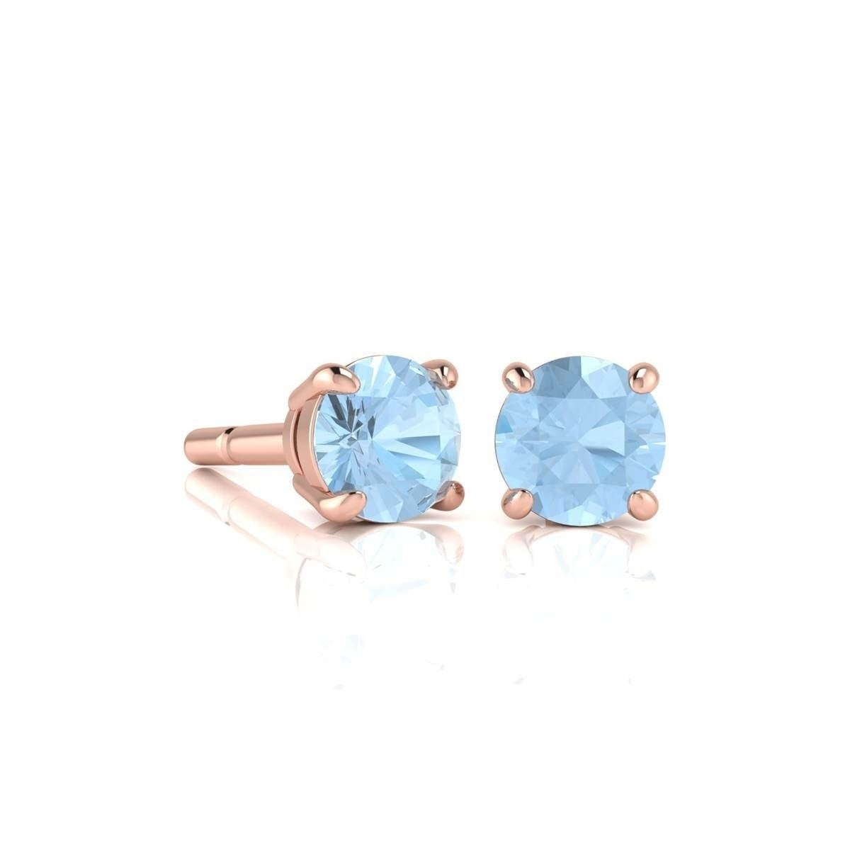 blue irene normal aquamarine stud earrings lyst jewelry aqua marine pink in product neuwirth gallery ylwgold