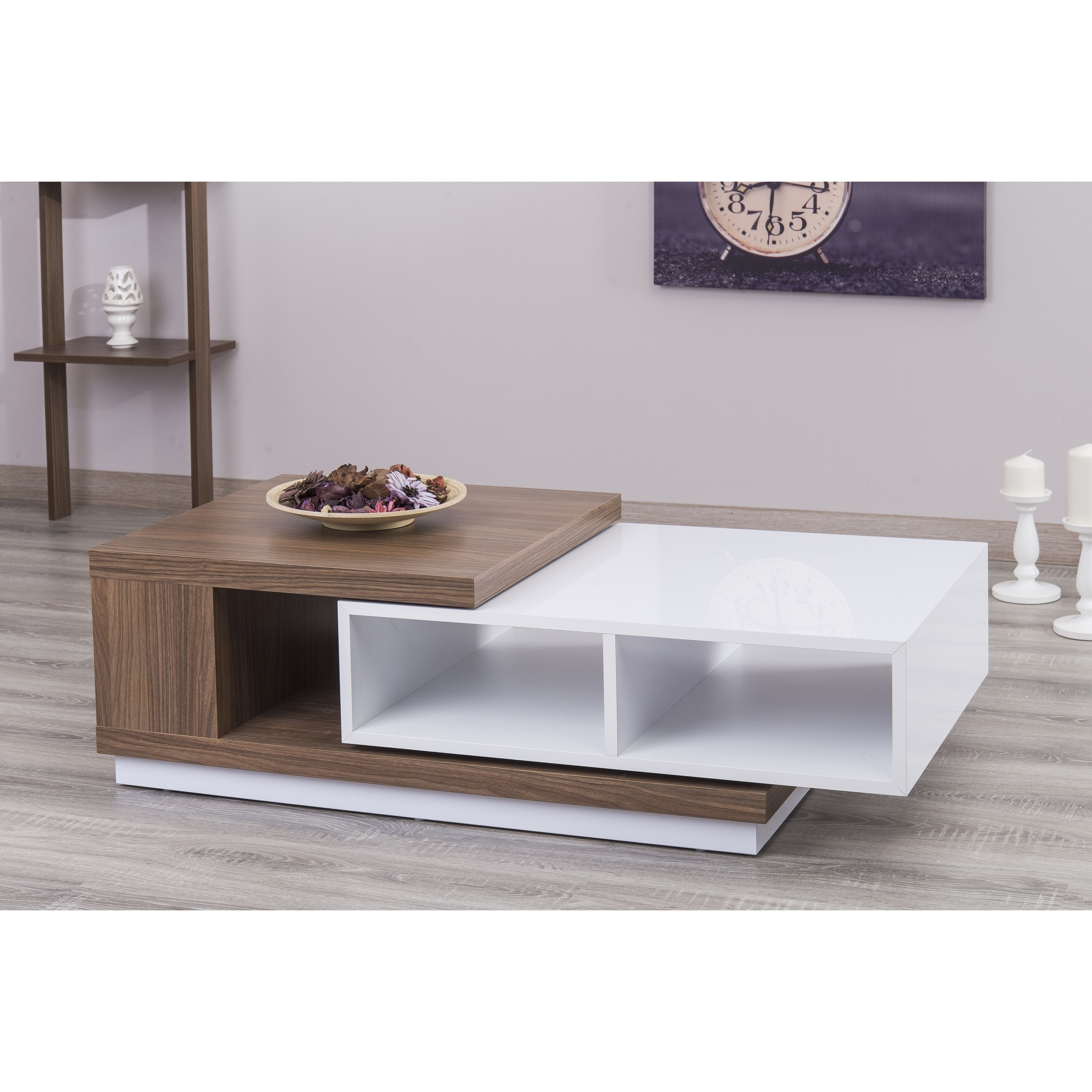 Shop zoom s extendable white lacquer coffee table free shipping today overstock com 18965908