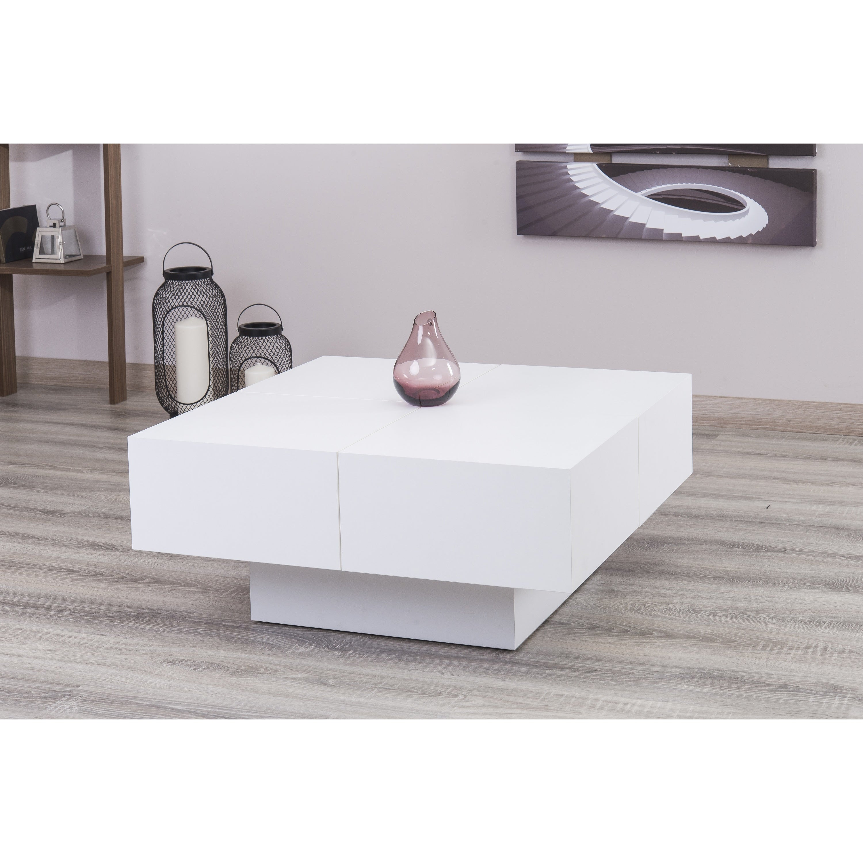 Milano White Glossy Coffee Table Free Shipping Today 18965919