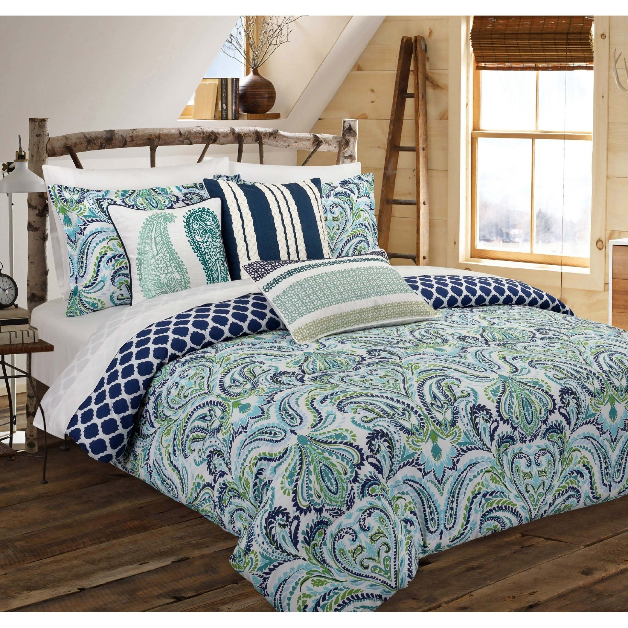 cover set ebay product bedding itm duvet quilt details paisley somerset home