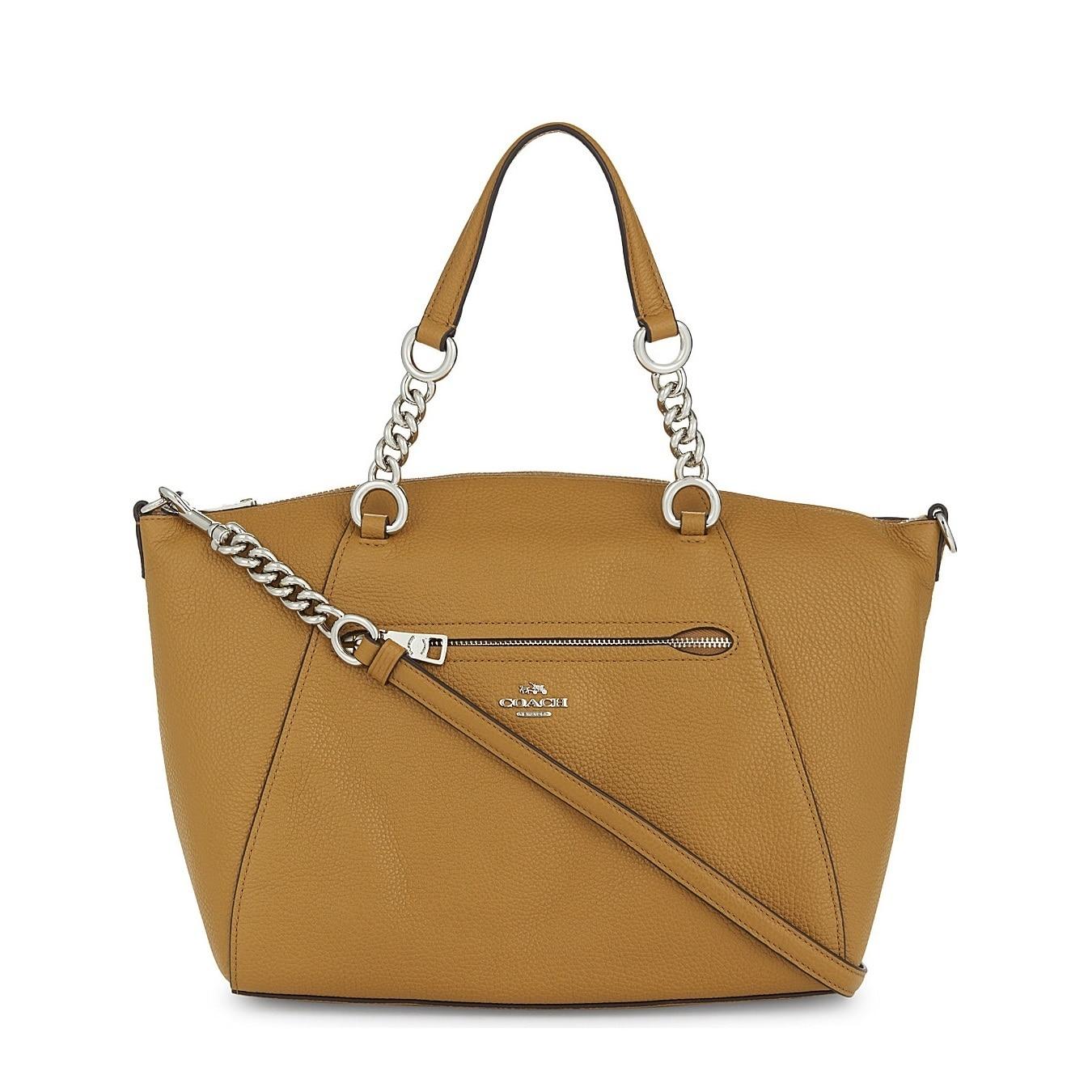 bb6560bdbf49d Shop Coach Prairie Silver Light Saddle Chain Satchel Handbag - Free  Shipping Today - Overstock - 18967511