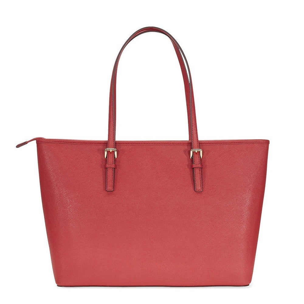 1f5c2bea2794 Shop Michael Kors Jet Set Travel Multifunction Saffiano Leather Burnt Red Tote  Bag - Free Shipping Today - Overstock - 18967779